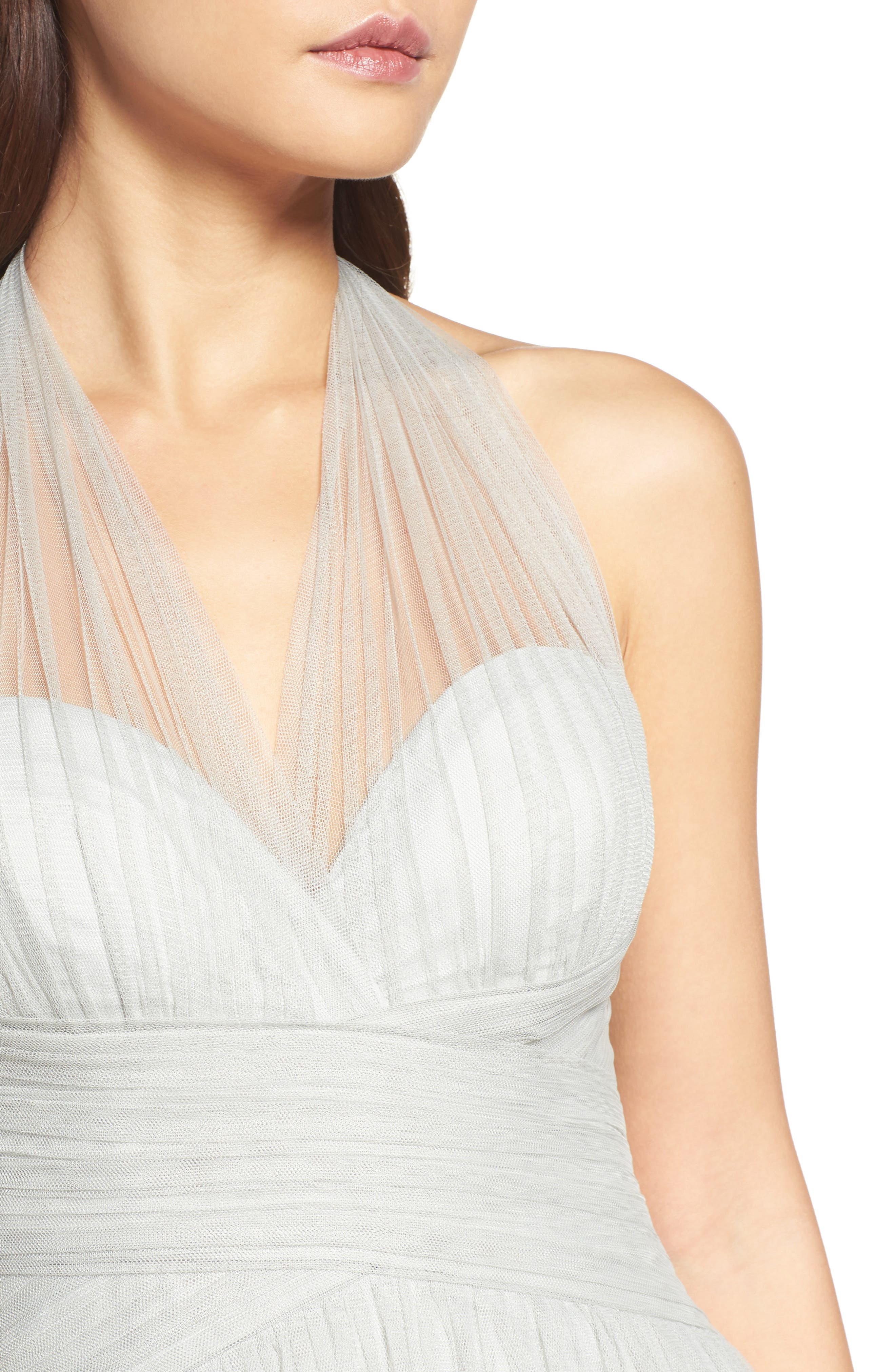 Halter Tulle A-Line Gown,                             Alternate thumbnail 12, color,