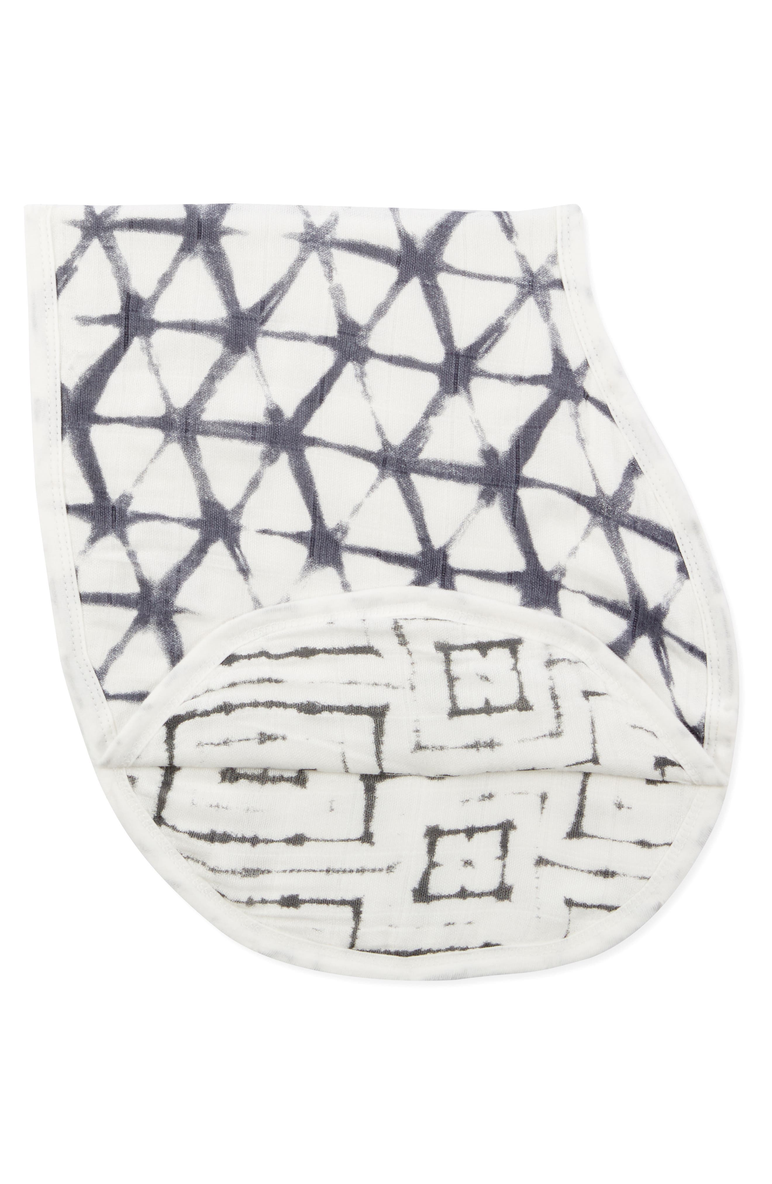 Print Burpy Bib,                             Alternate thumbnail 2, color,                             PEBBLE SHIBORI