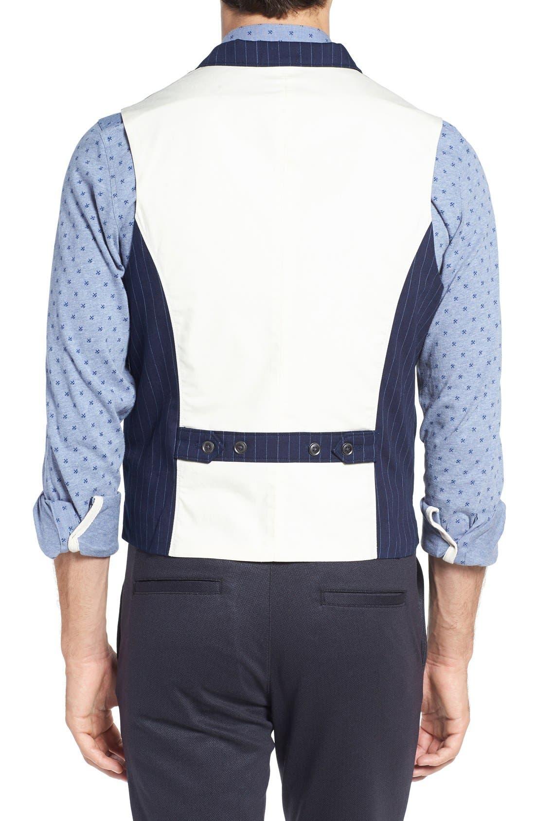 Windsor Pinstripe Cotton Twill Vest,                             Alternate thumbnail 2, color,                             410