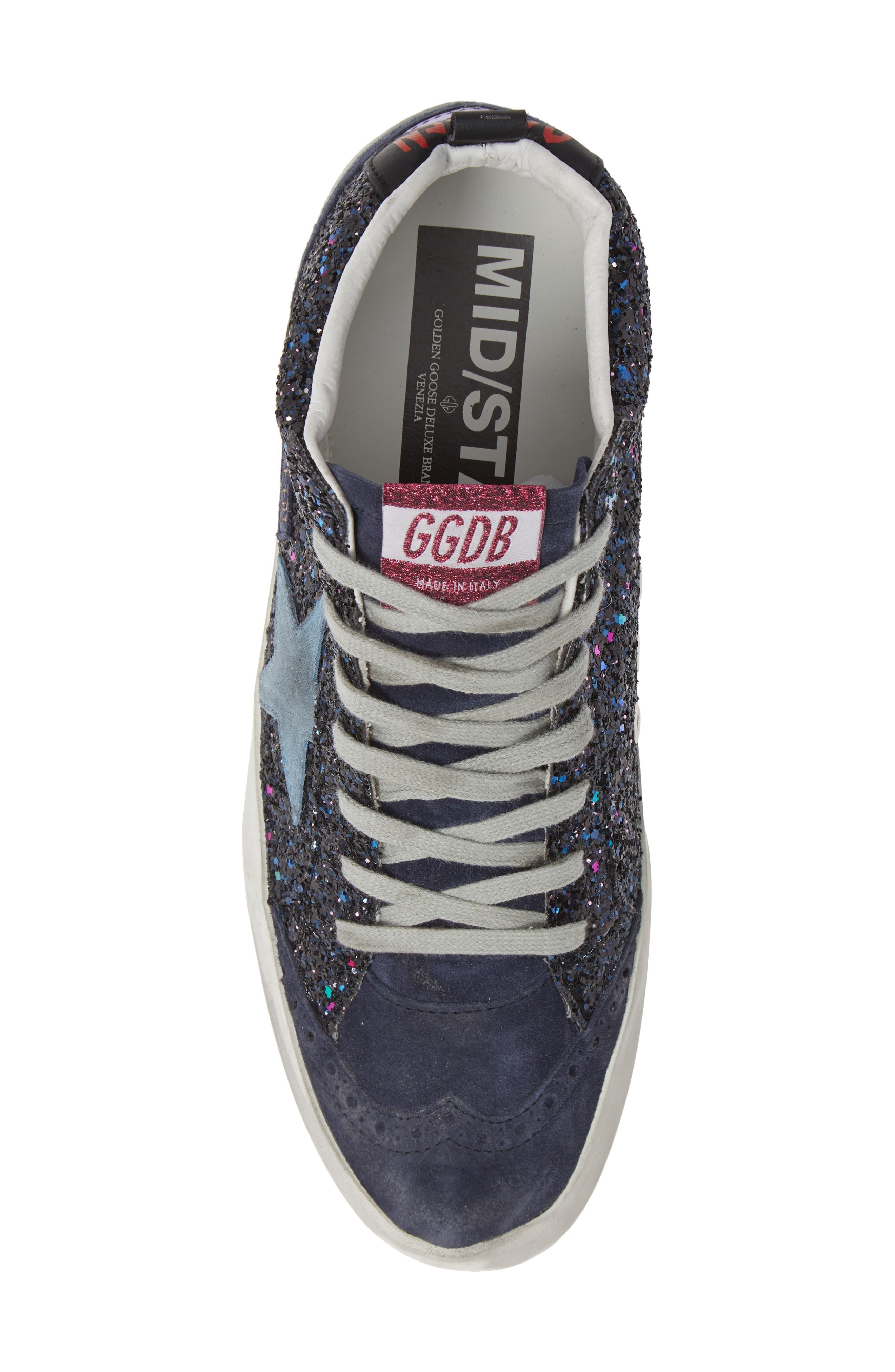 Mid Star Glitter Sneaker,                             Alternate thumbnail 5, color,                             400