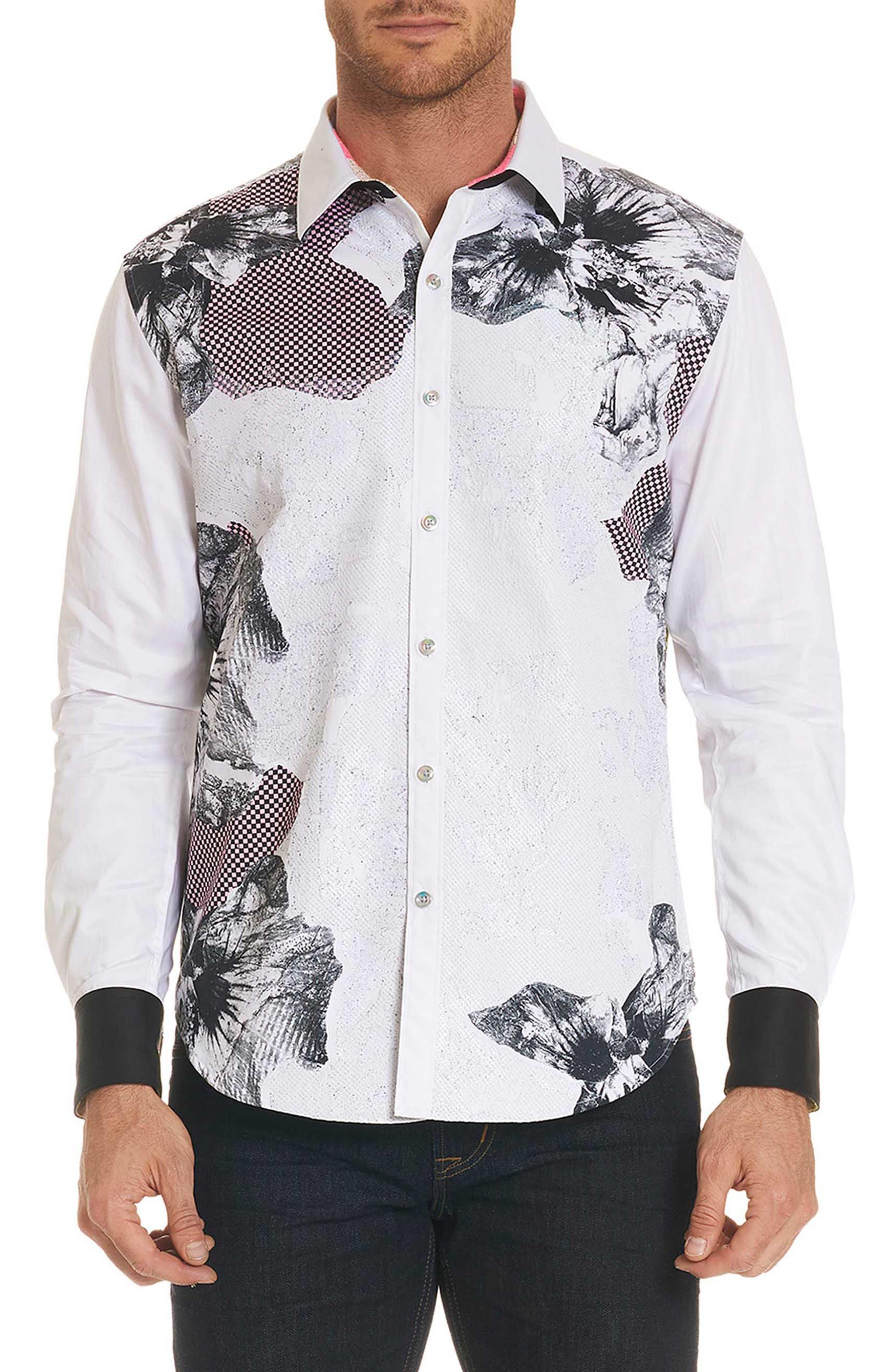 Corporal Classic Fit Floral Sport Shirt,                         Main,                         color, 100