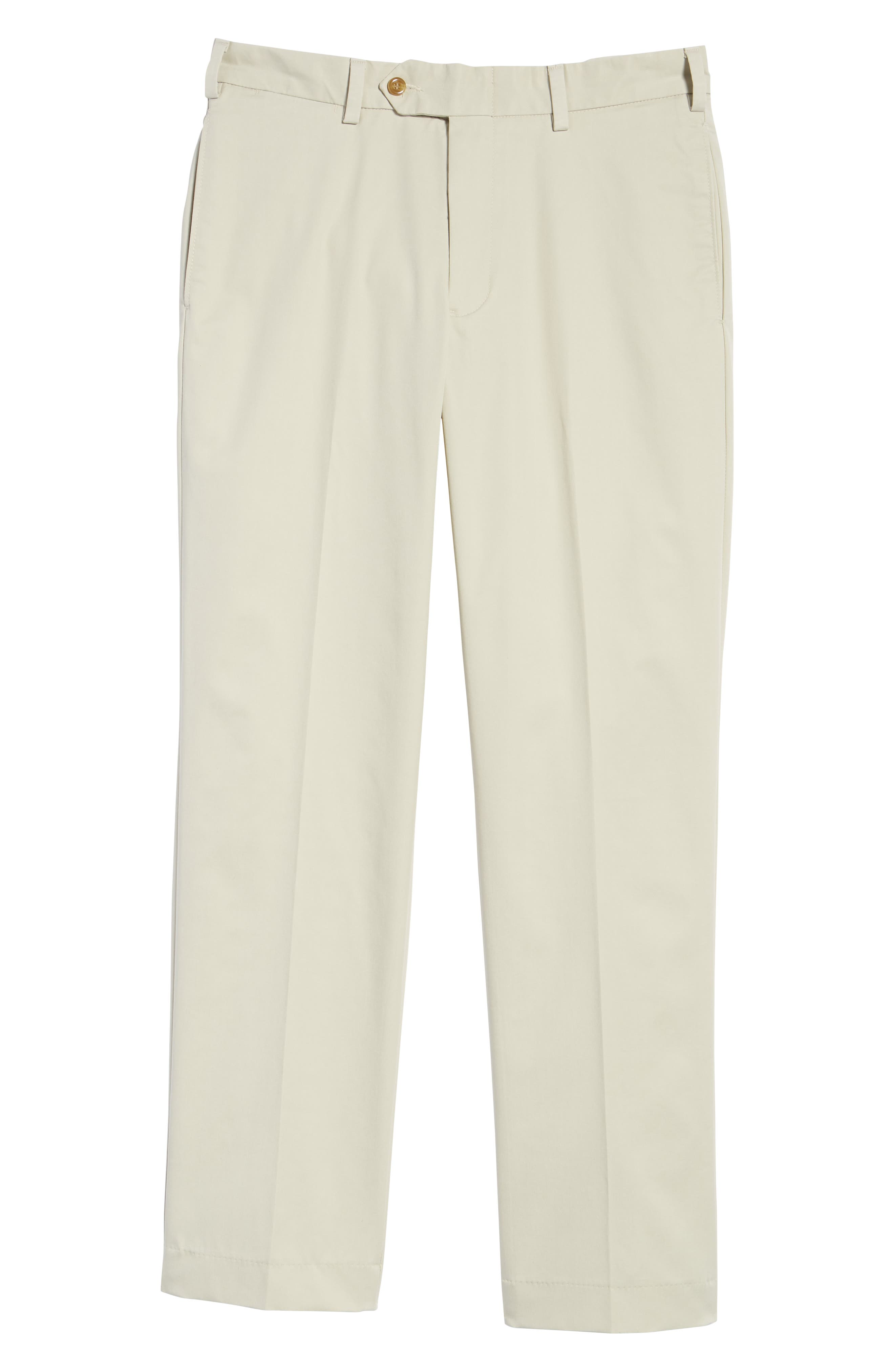 M2 Classic Fit Flat Front Travel Twill Pants,                             Alternate thumbnail 6, color,                             CEMENT