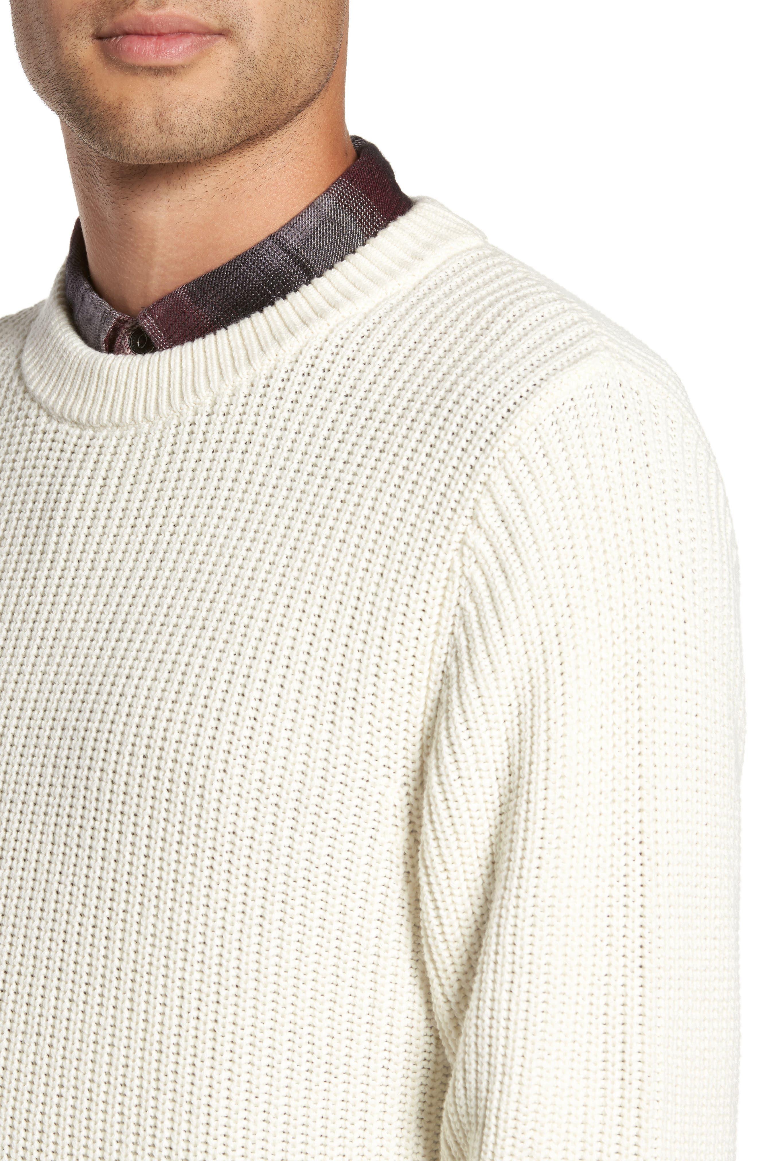 Shaker Stitch Sweater,                             Alternate thumbnail 8, color,