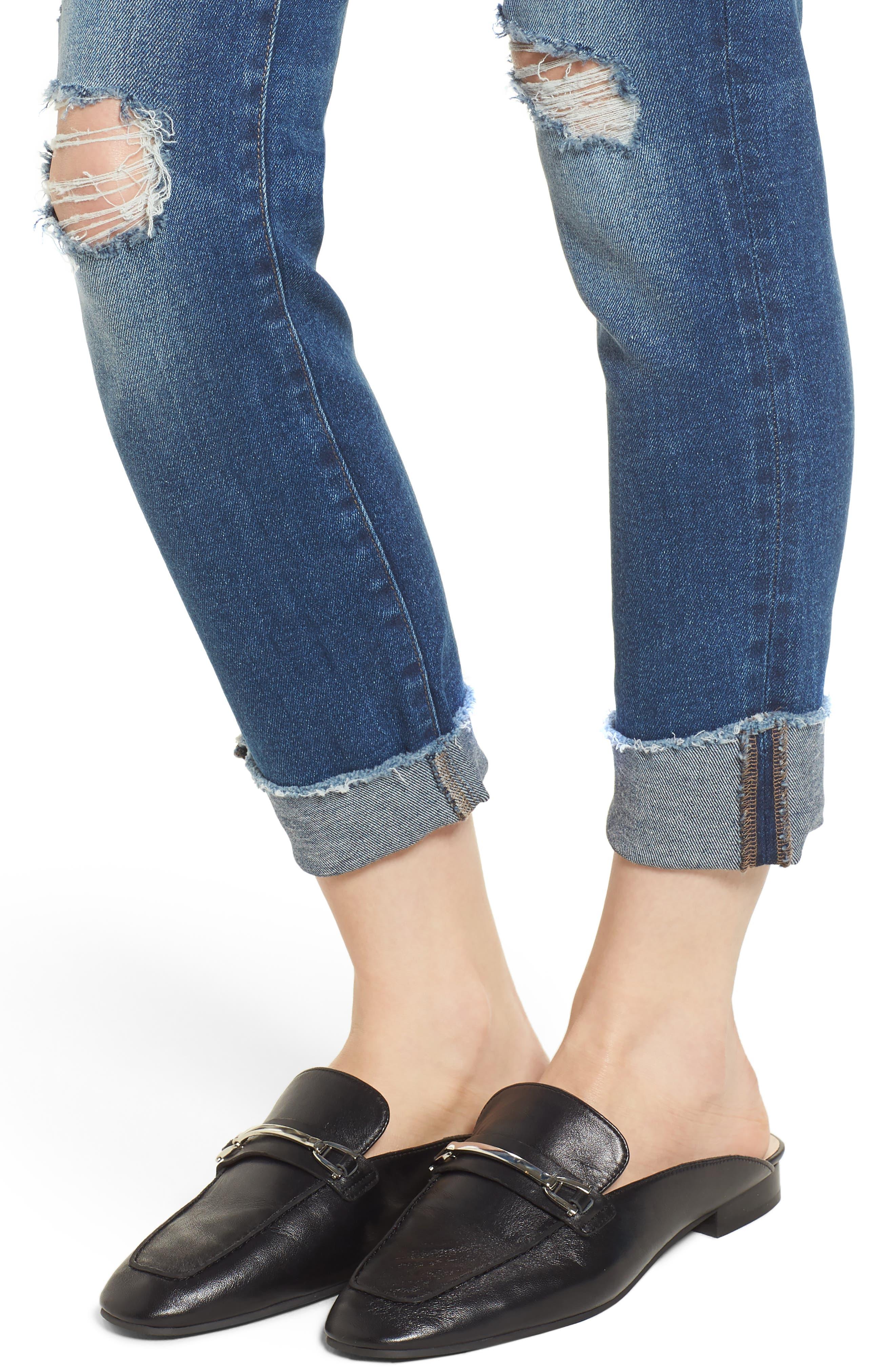 Florence Instasculpt Crop Skinny Jeans,                             Alternate thumbnail 4, color,                             400