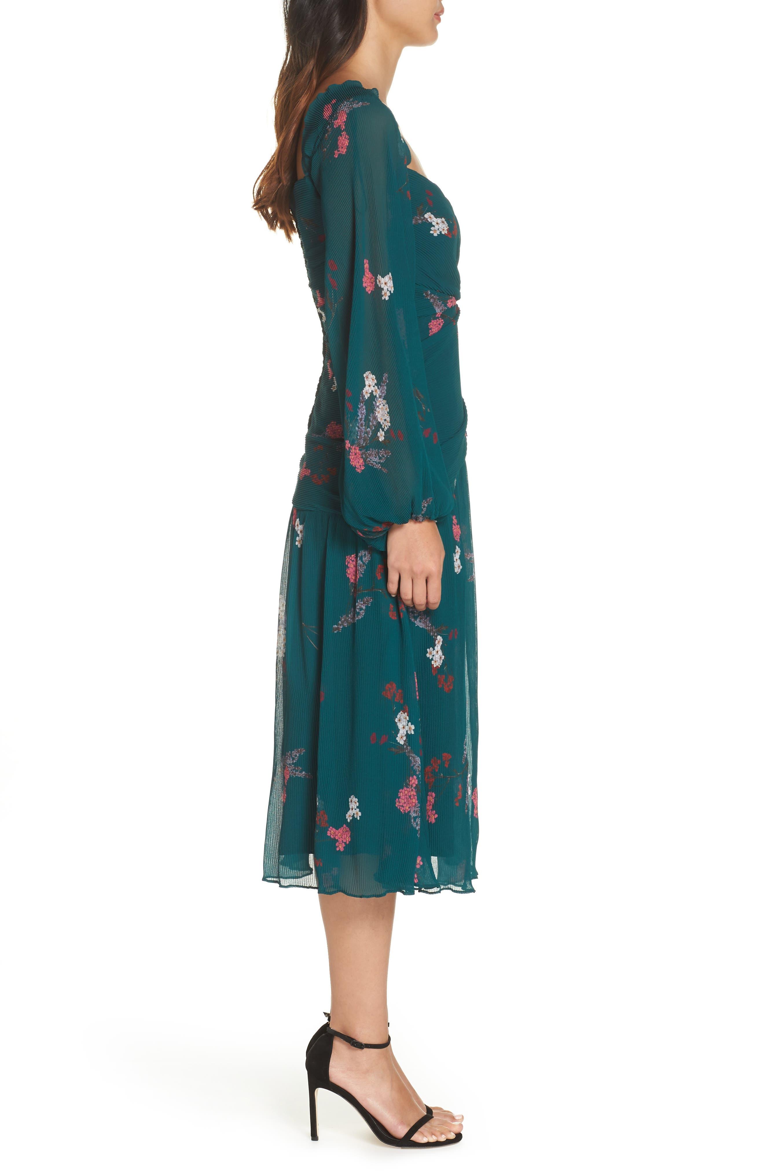 Night Fall Midi Dress,                             Alternate thumbnail 3, color,                             310