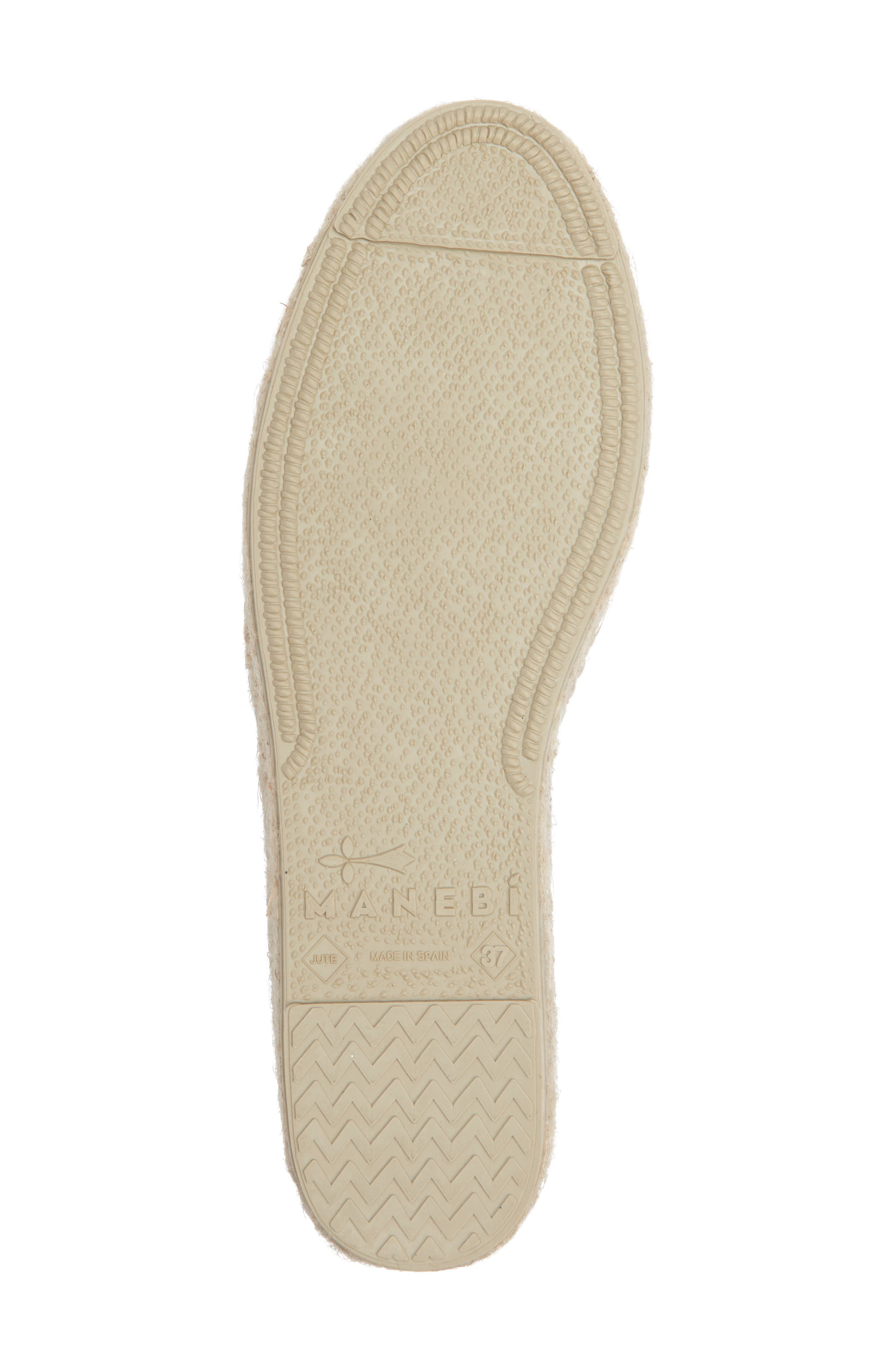 MANEBÍ Yucatan Platform Espadrille Slip-On,                             Alternate thumbnail 6, color,                             420
