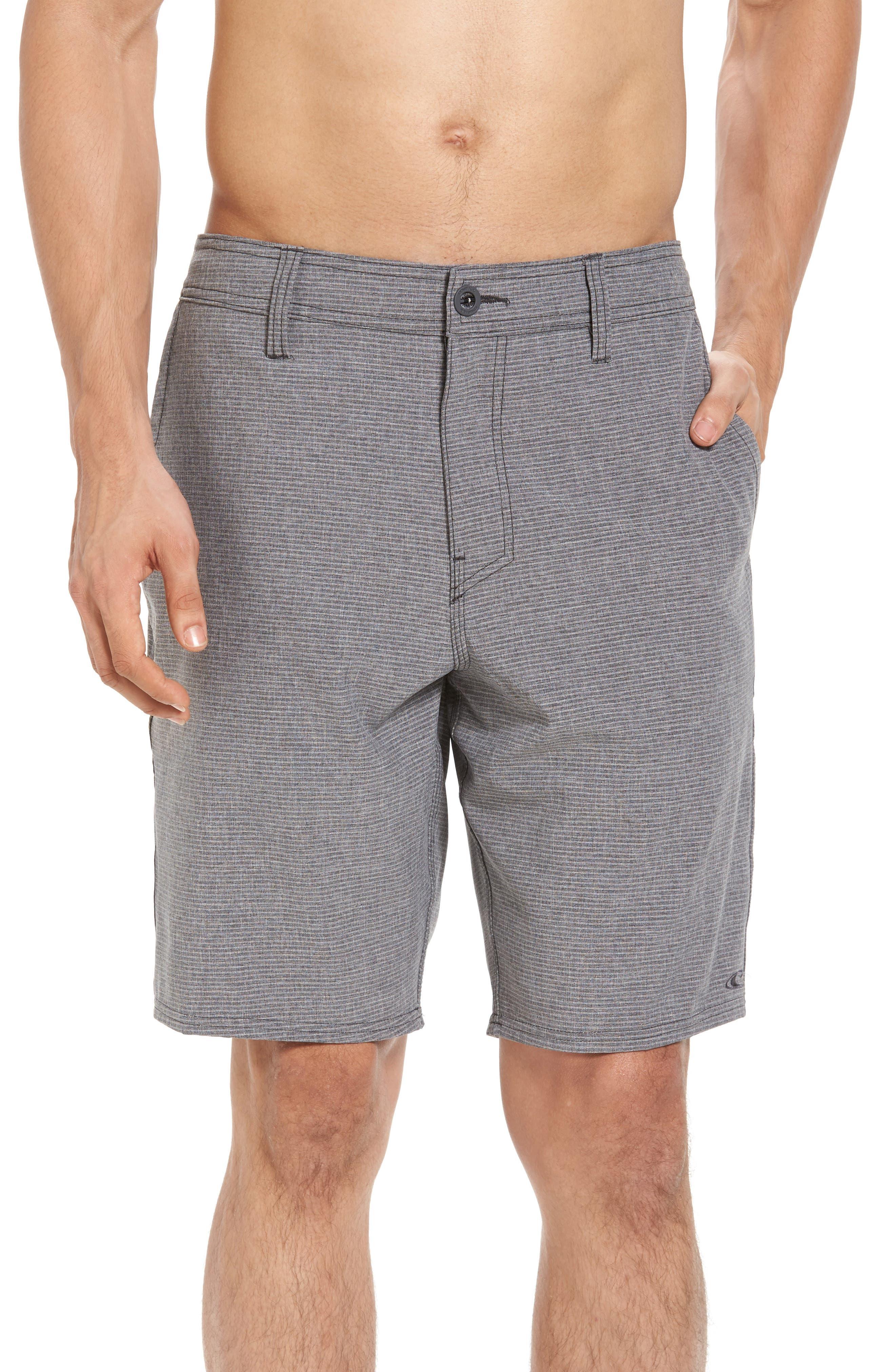 Locked Stripe Hybrid Shorts,                             Main thumbnail 1, color,                             001