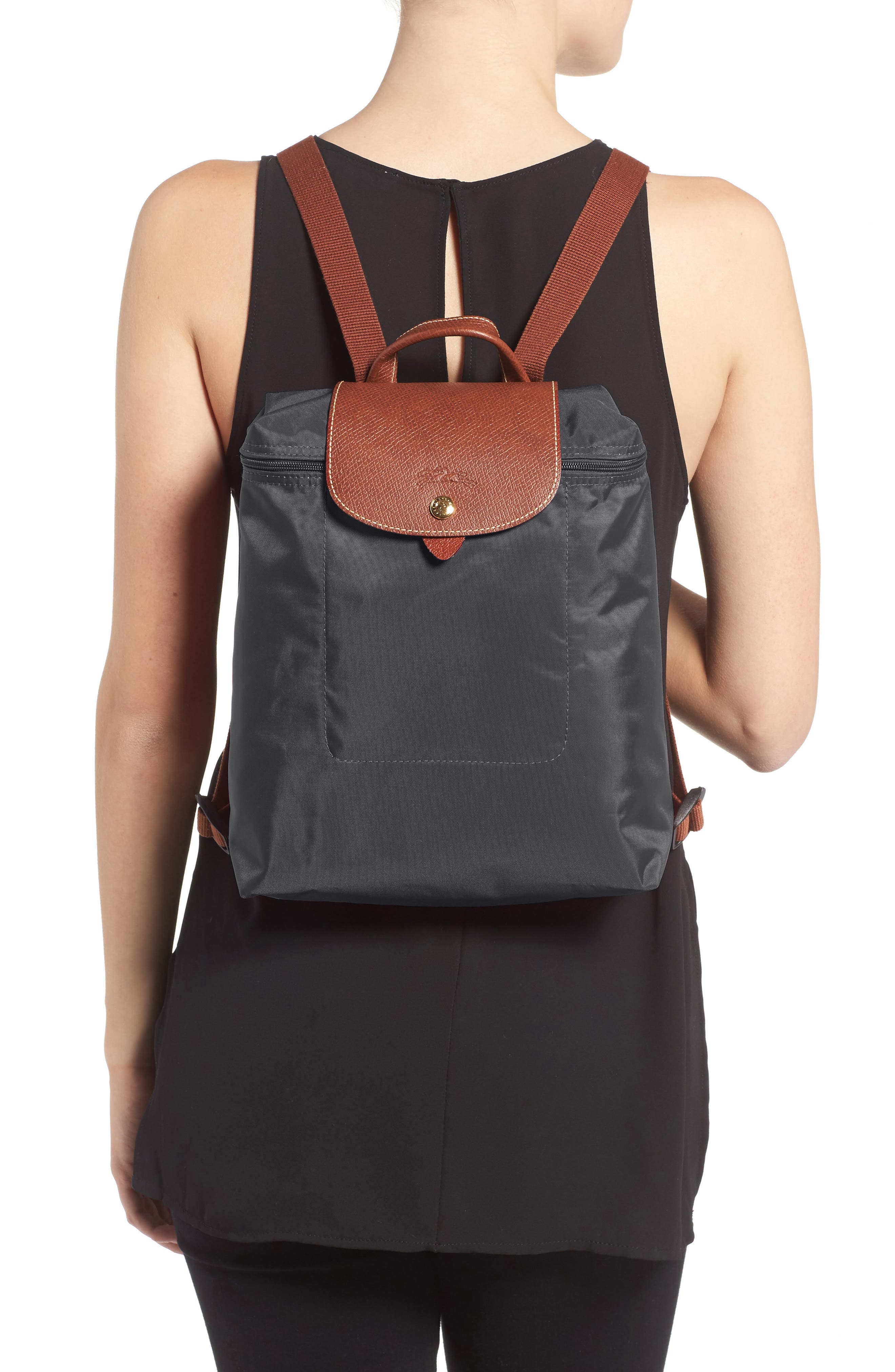 'Le Pliage' Backpack,                             Alternate thumbnail 2, color,                             GUNMETAL