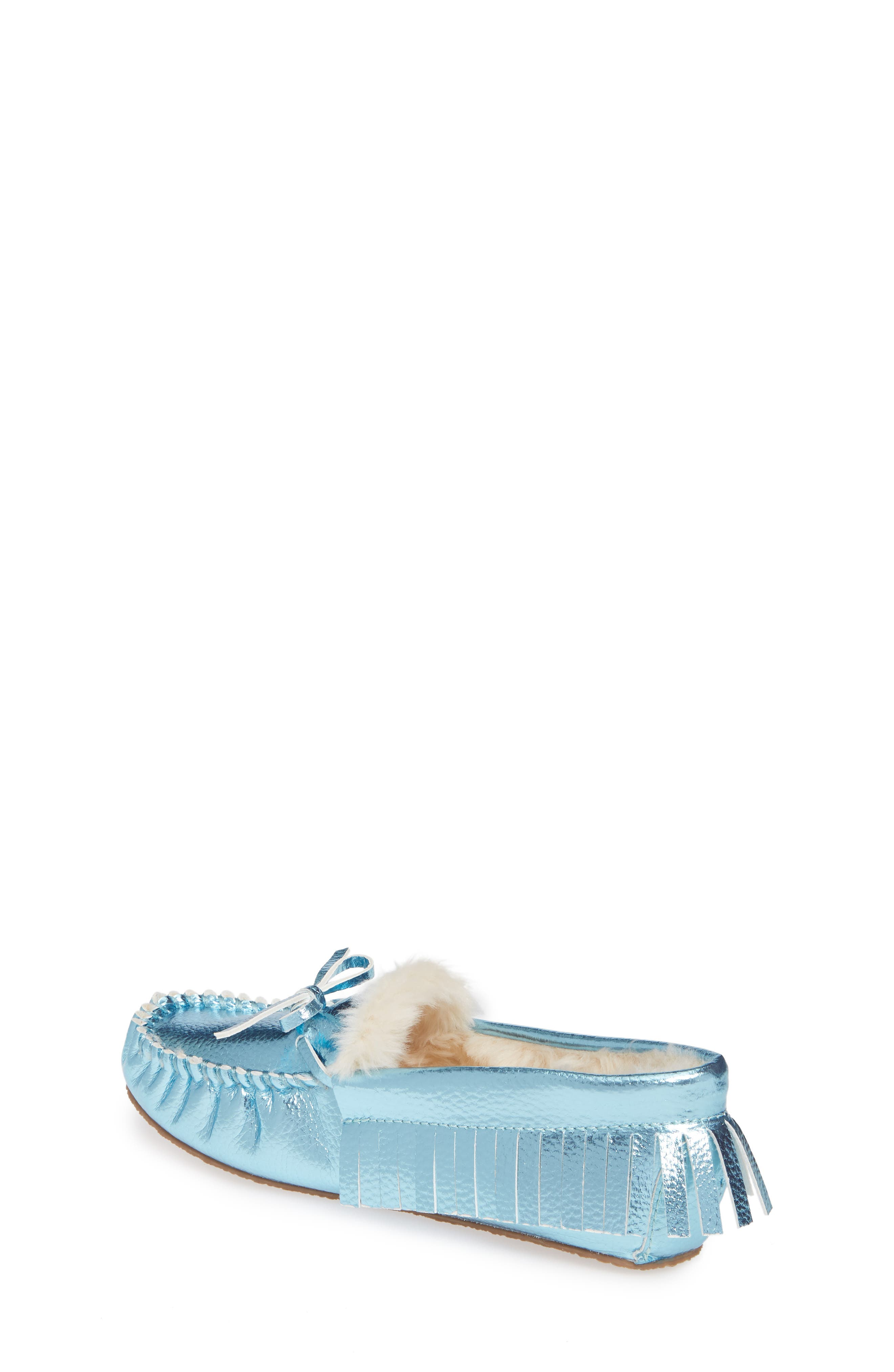CREWCUTS BY J.CREW,                             Metallic Moccasin,                             Alternate thumbnail 2, color,                             FADED SKY