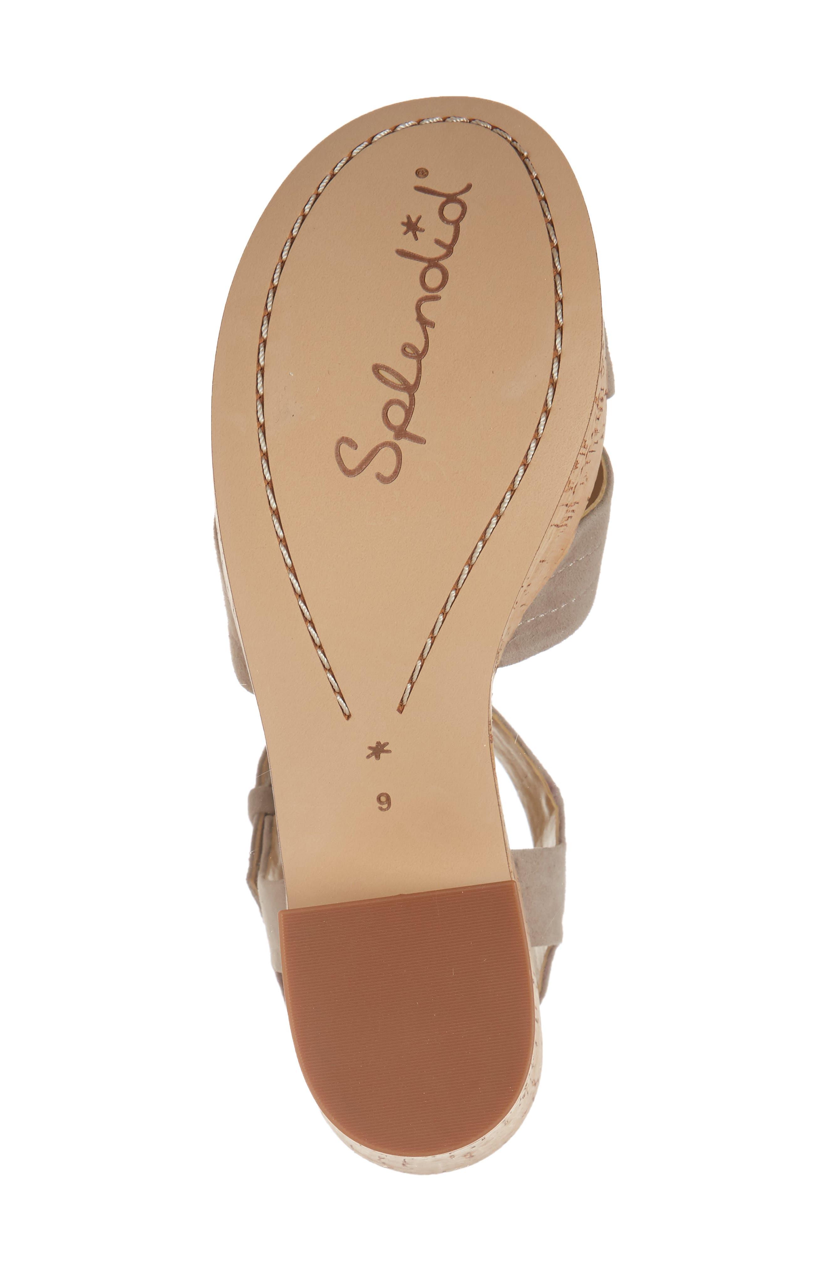 Flaire Platform Sandal,                             Alternate thumbnail 6, color,                             TAUPE SUEDE