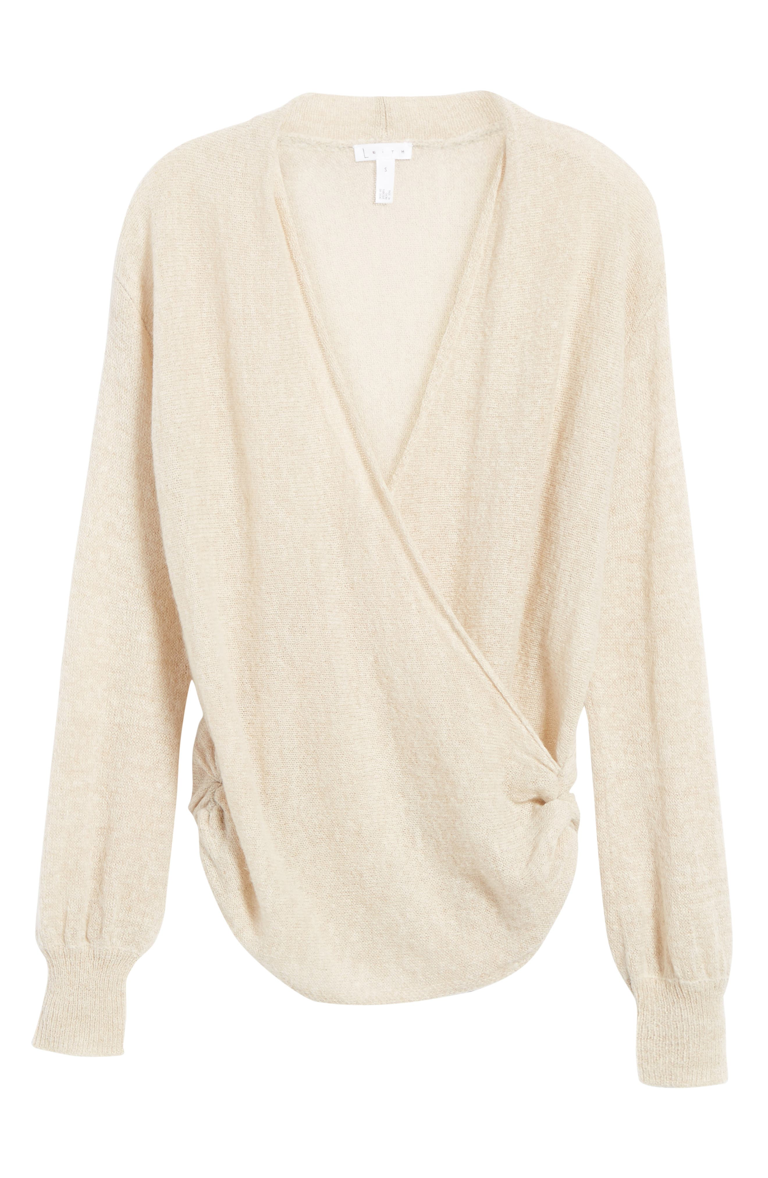 Wrap Front Sweater,                             Alternate thumbnail 6, color,                             235