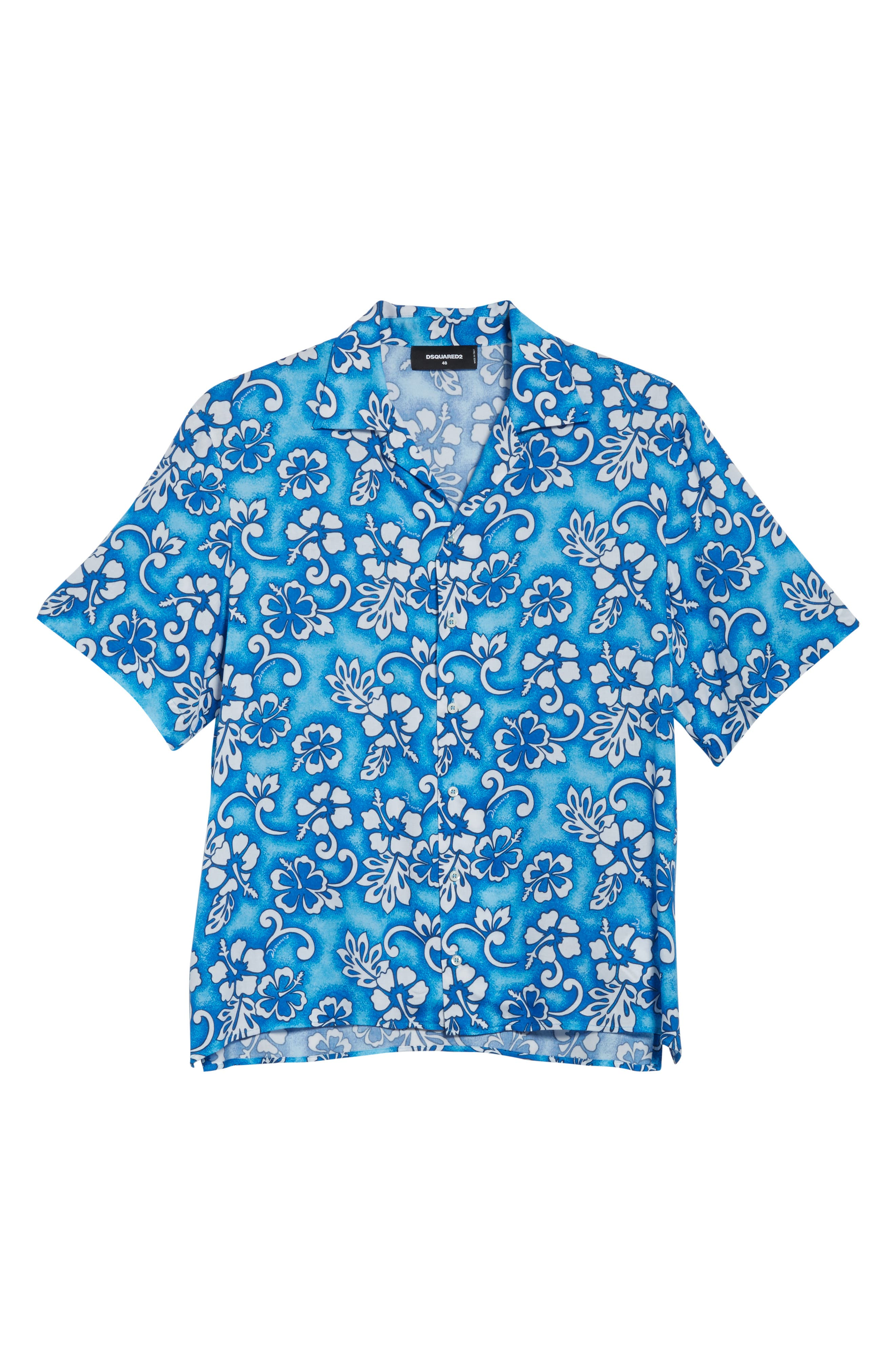 Floral Print Camp Shirt,                             Alternate thumbnail 6, color,                             400
