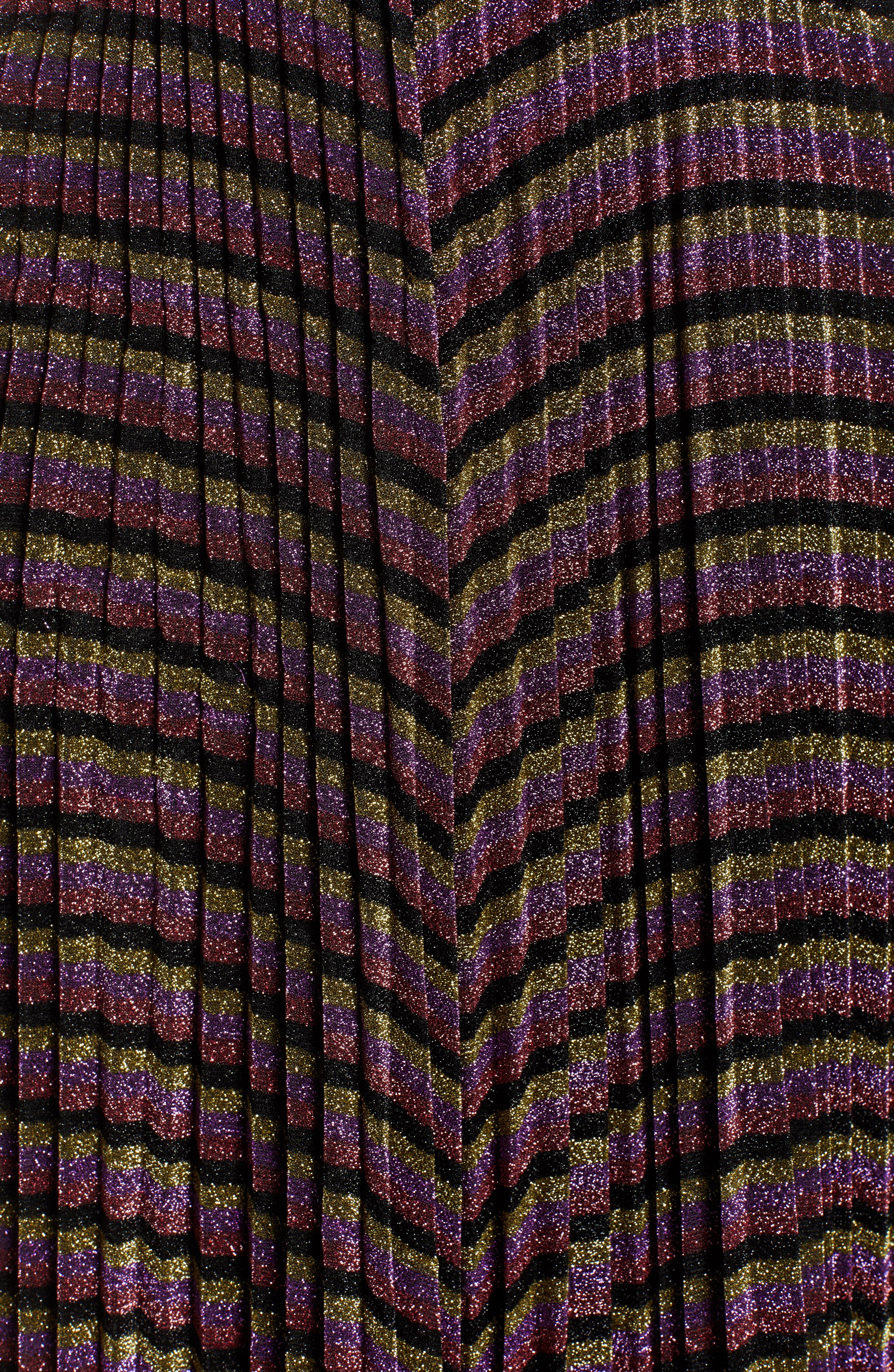 Sparkle Stripe Pleated Skirt,                             Alternate thumbnail 5, color,                             MULTICOLOUR