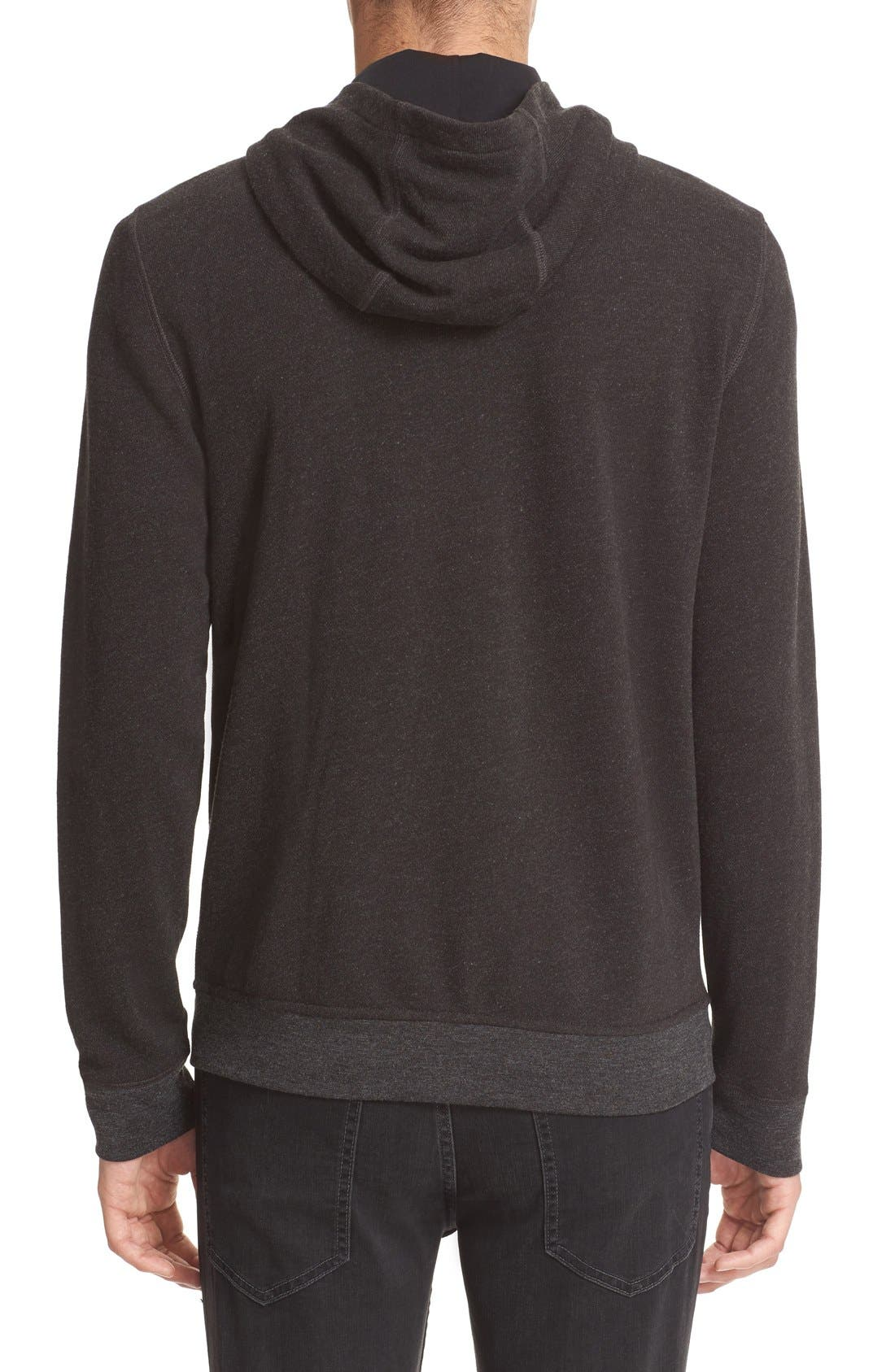 French Terry Full Zip Hoodie,                             Alternate thumbnail 2, color,                             021