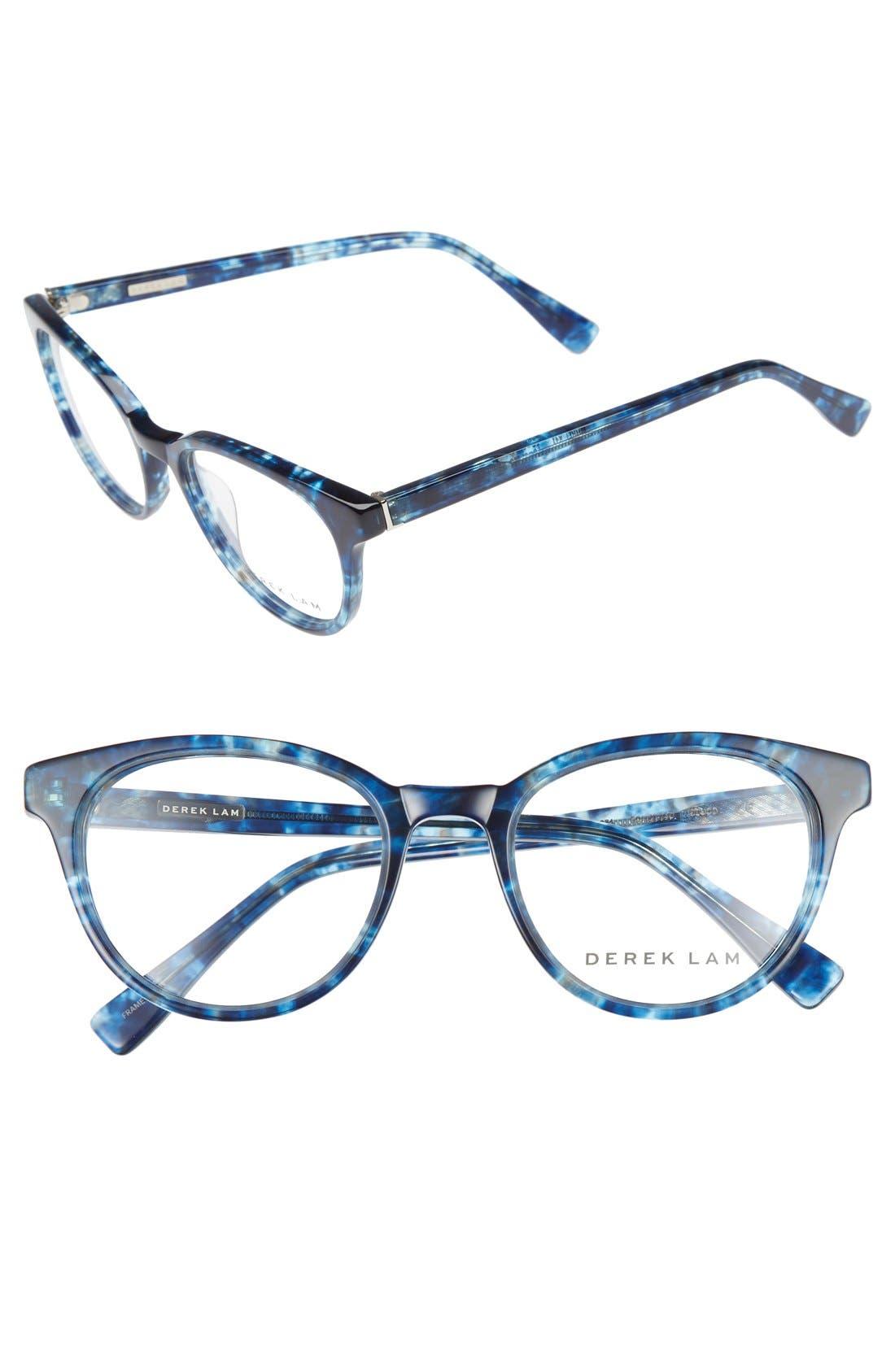 50mm Optical Glasses,                             Main thumbnail 1, color,                             BLUE CLOUD