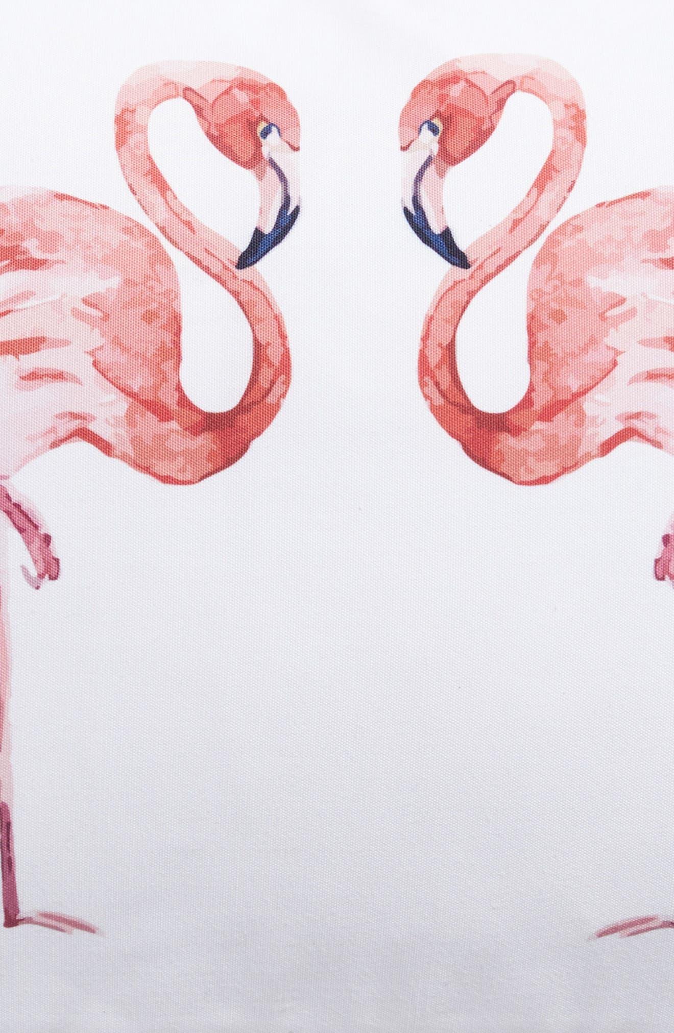 Flamingo Accent Pillow,                             Alternate thumbnail 3, color,                             900