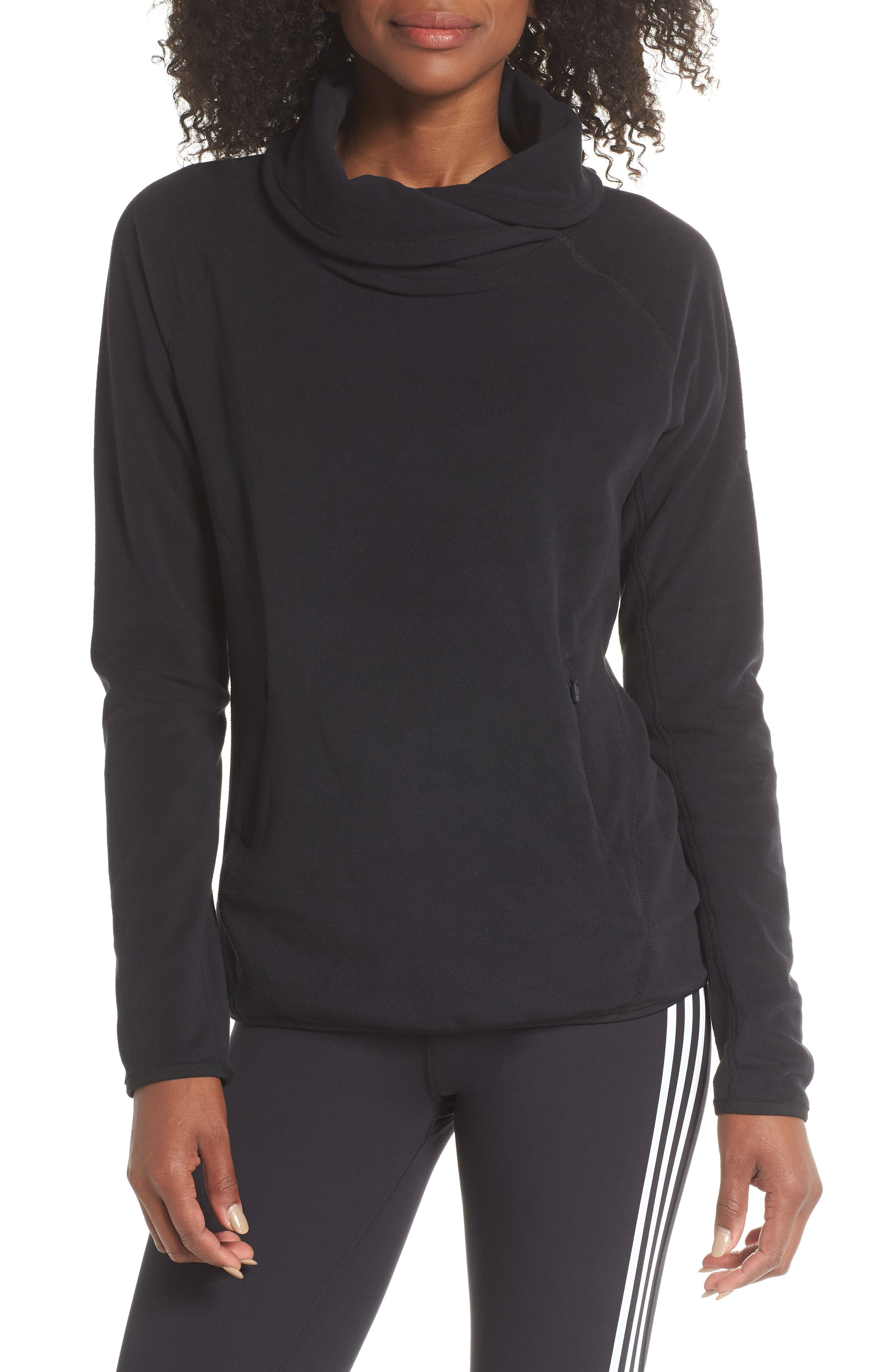 Adidas Originals Cowl Fleece Pullover, Black