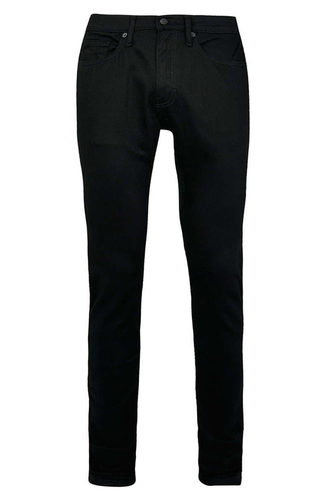 Skinny Stretch Jeans,                             Alternate thumbnail 9, color,                             BLACK