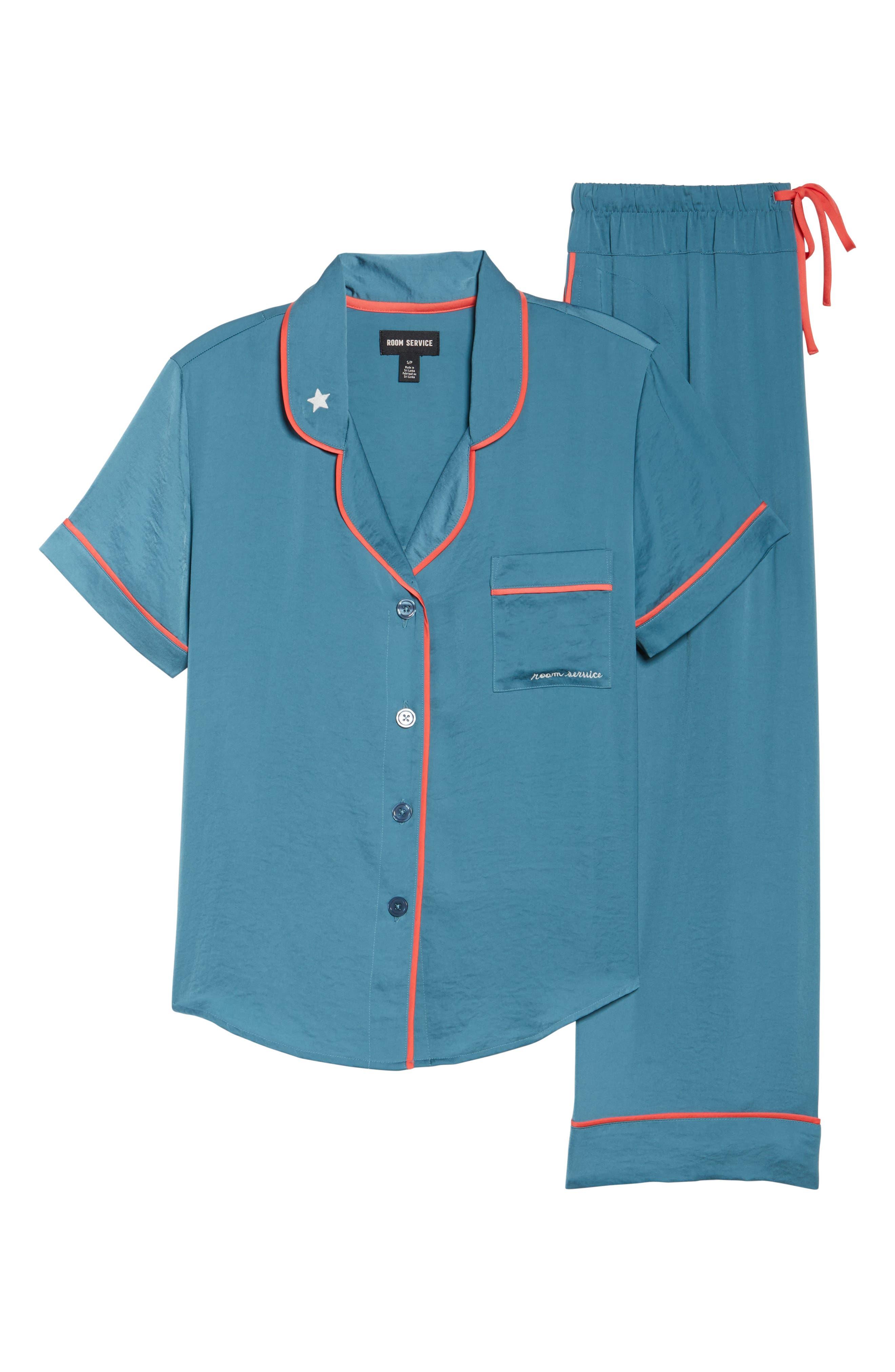 Satin Pajamas,                             Alternate thumbnail 6, color,                             450
