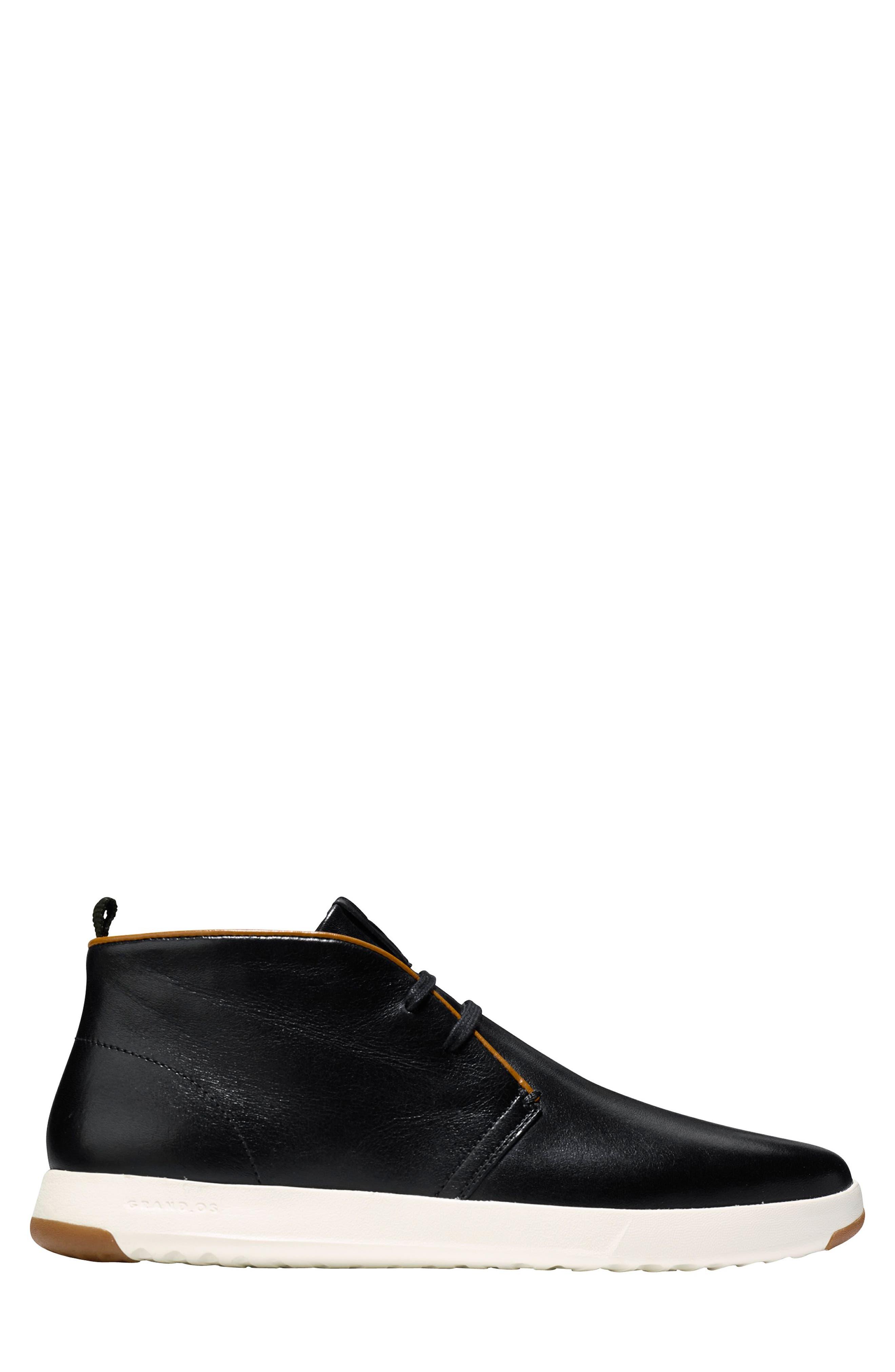 GrandPro Chukka Boot,                             Alternate thumbnail 3, color,                             BLACK/ WHITE LEATHER