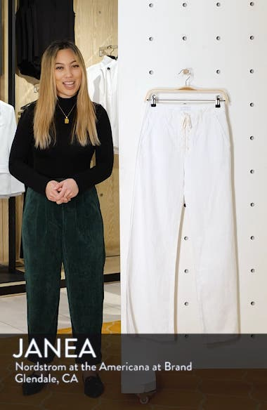The Tie-Up Roller Wide Leg Twill Pants, sales video thumbnail