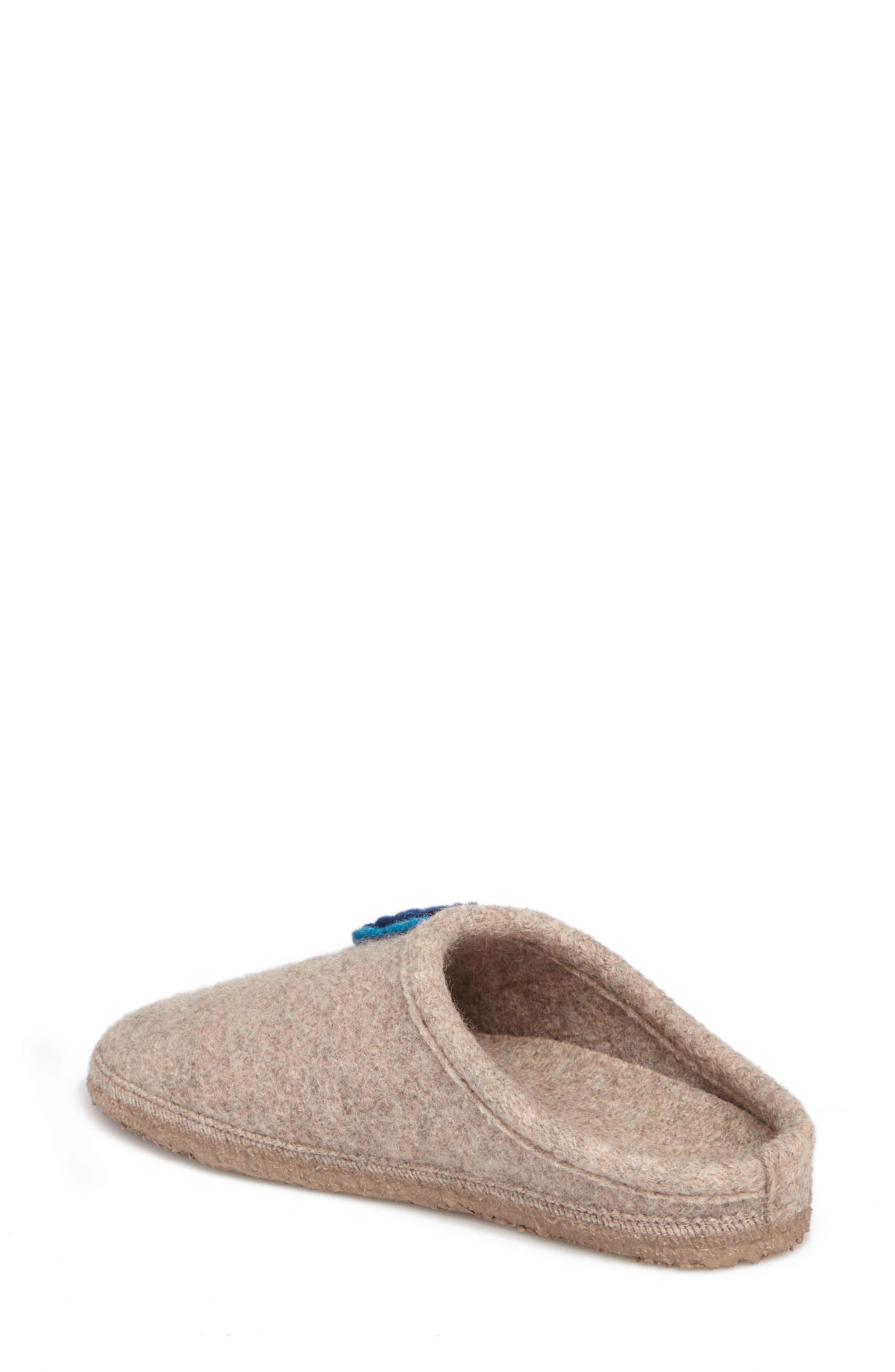 Georgie Indoor Boiled Wool Slipper,                             Alternate thumbnail 2, color,                             NATURAL WOOL