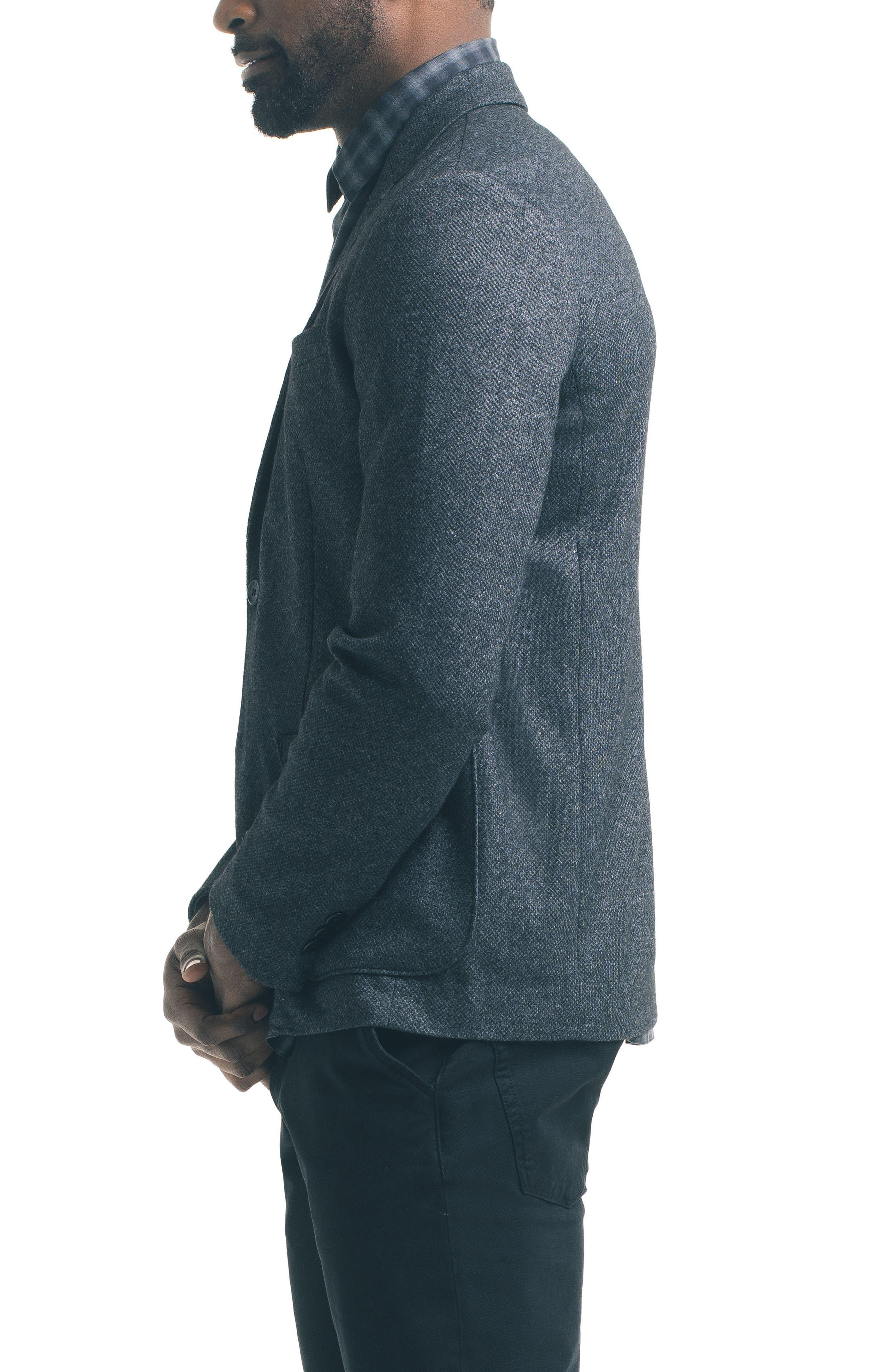 Slim Fit Knit Blazer,                             Alternate thumbnail 5, color,