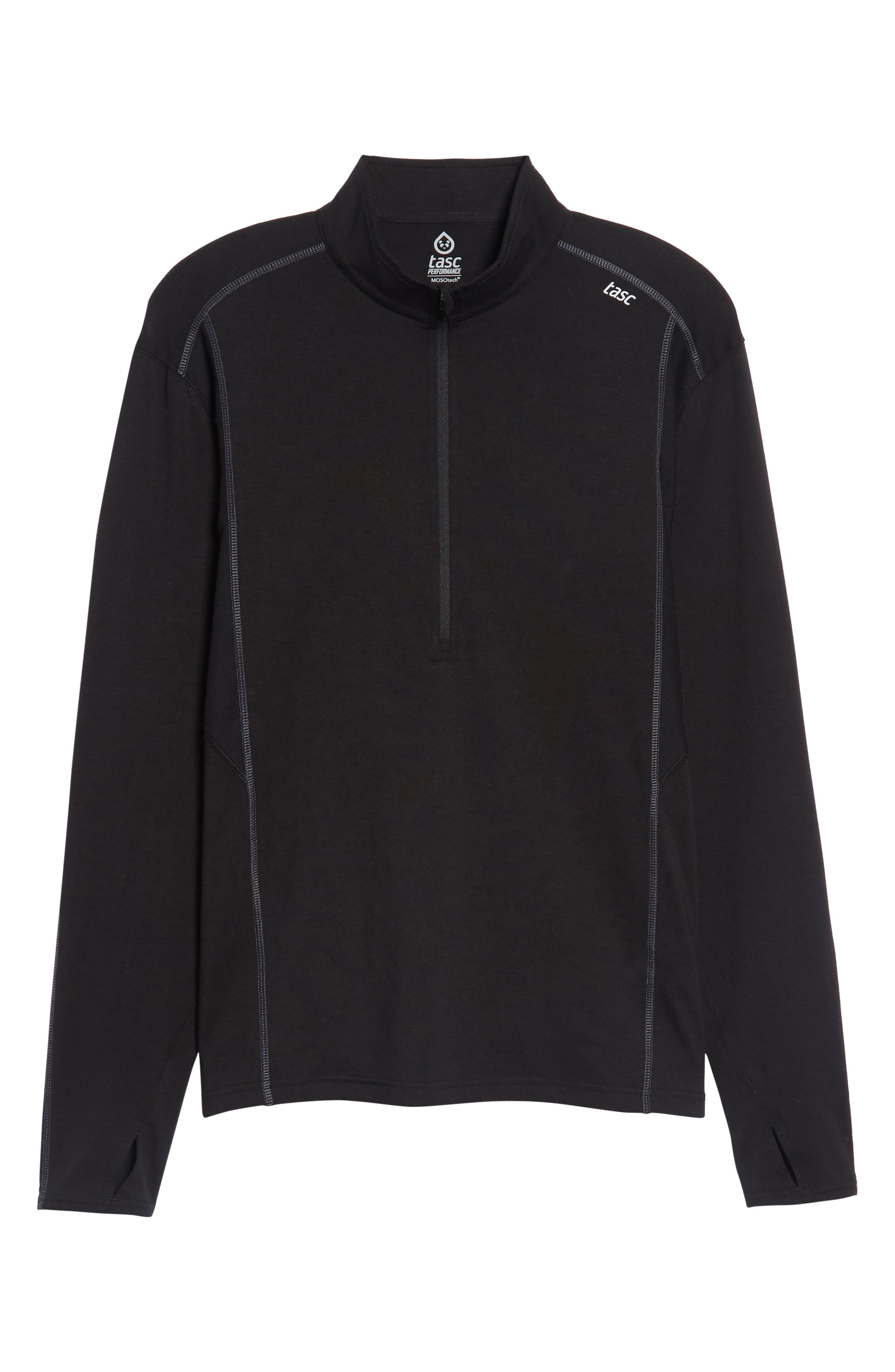 Charge Quarter-Zip Pullover,                             Alternate thumbnail 6, color,                             001
