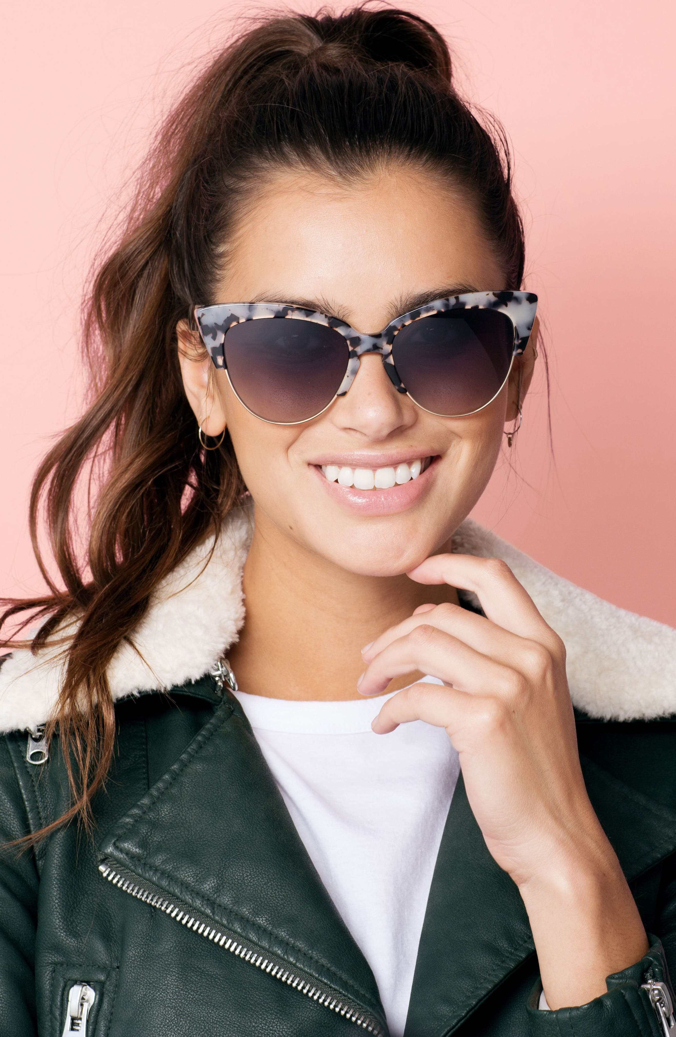 Dafni 56mm Gradient Cat Eye Sunglasses,                             Alternate thumbnail 5, color,