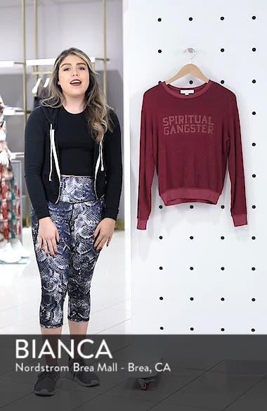 Varsity Crop Sweatshirt, sales video thumbnail