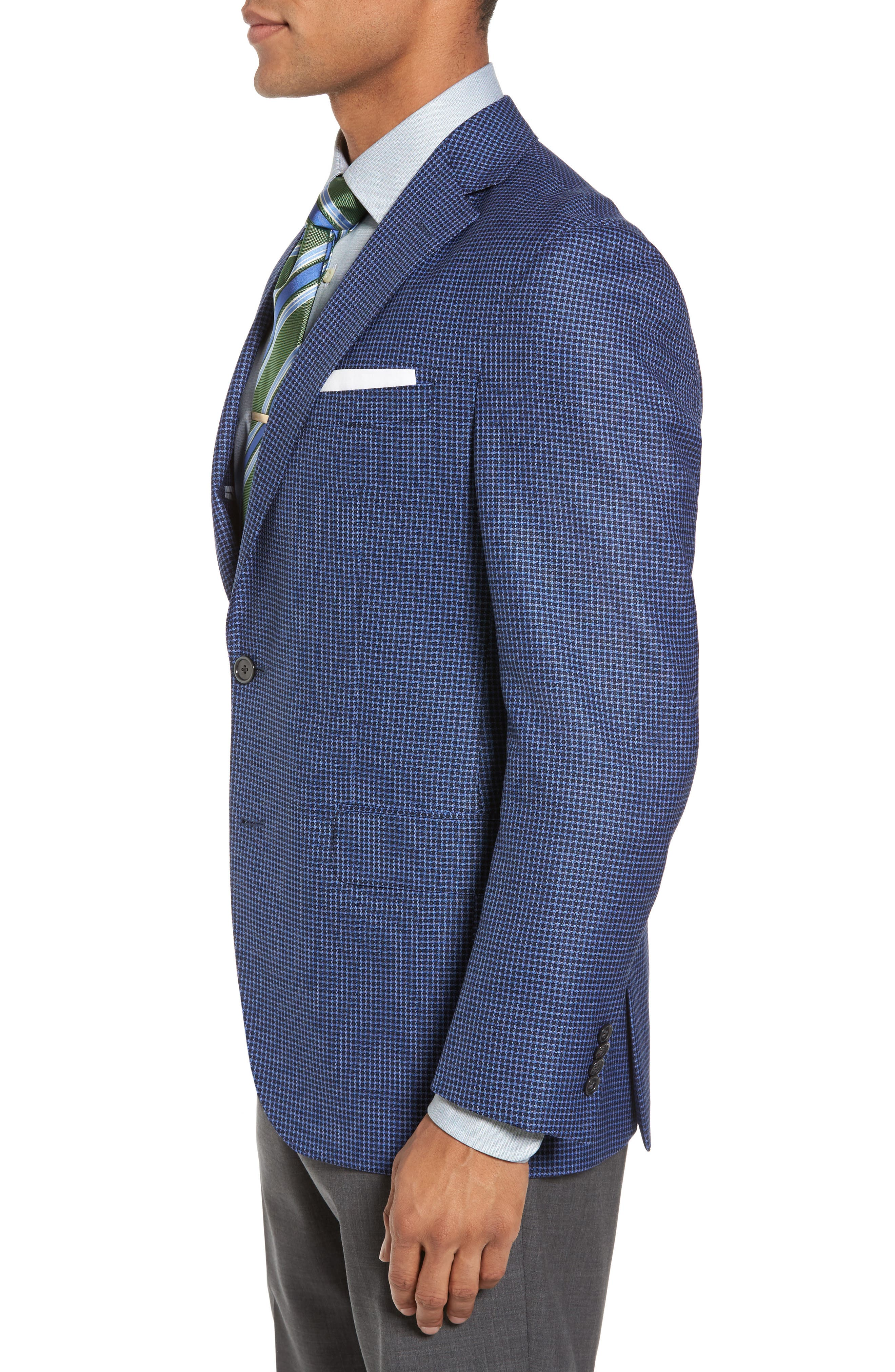 Arnold Classic Fit Check Wool Sport Coat,                             Alternate thumbnail 3, color,