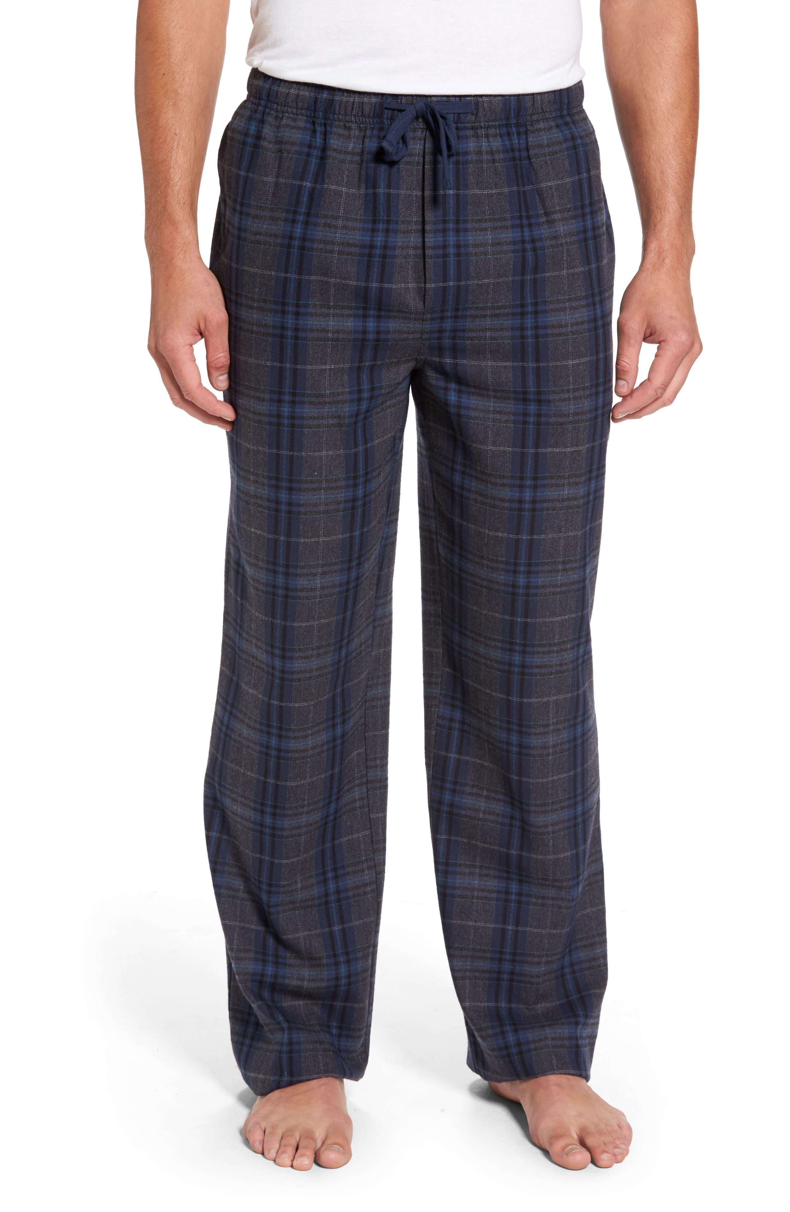 Bryson Plaid Flannel Lounge Pants,                             Main thumbnail 1, color,                             030