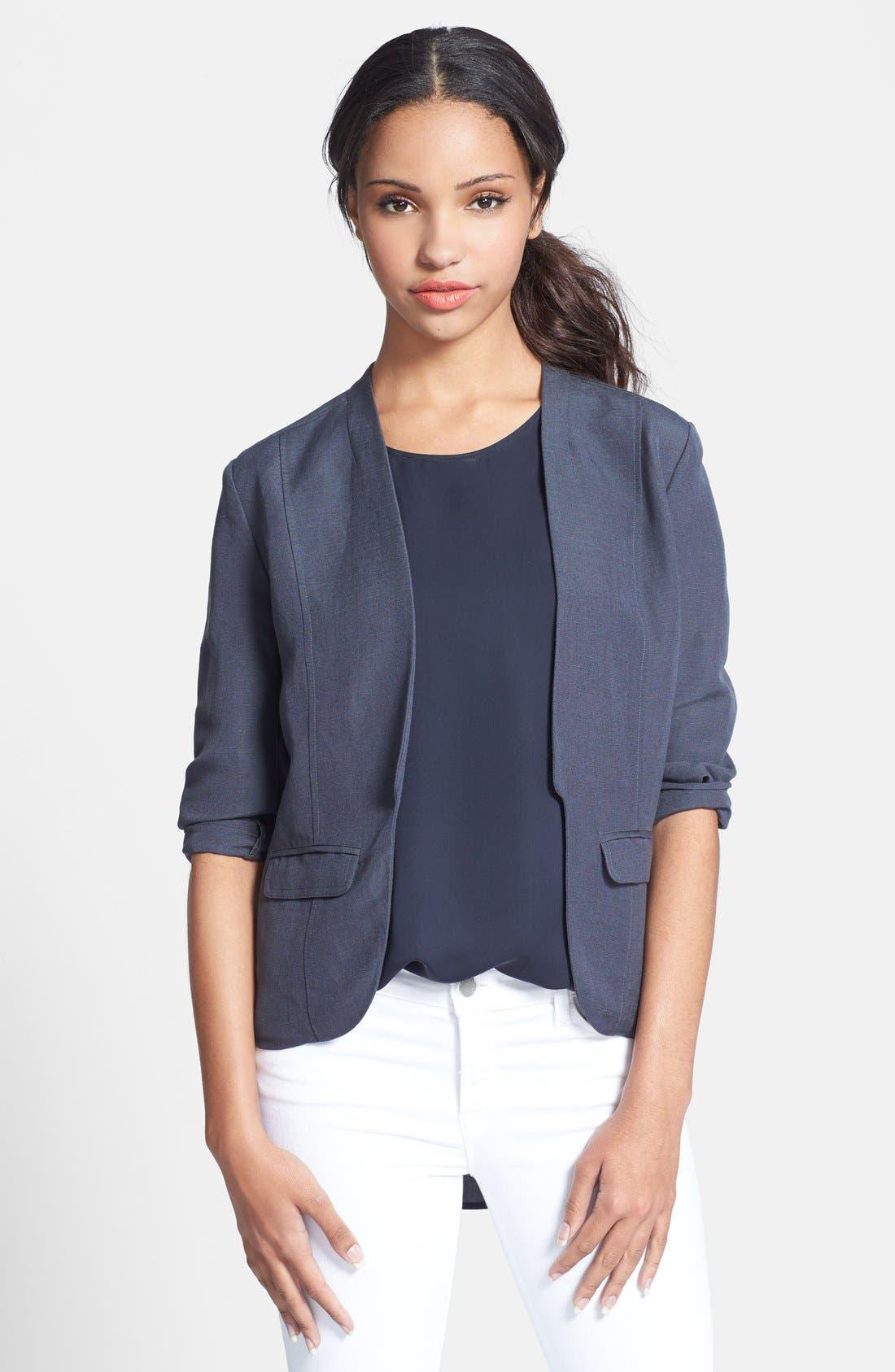 Linen Blend Jacket,                             Main thumbnail 1, color,                             030
