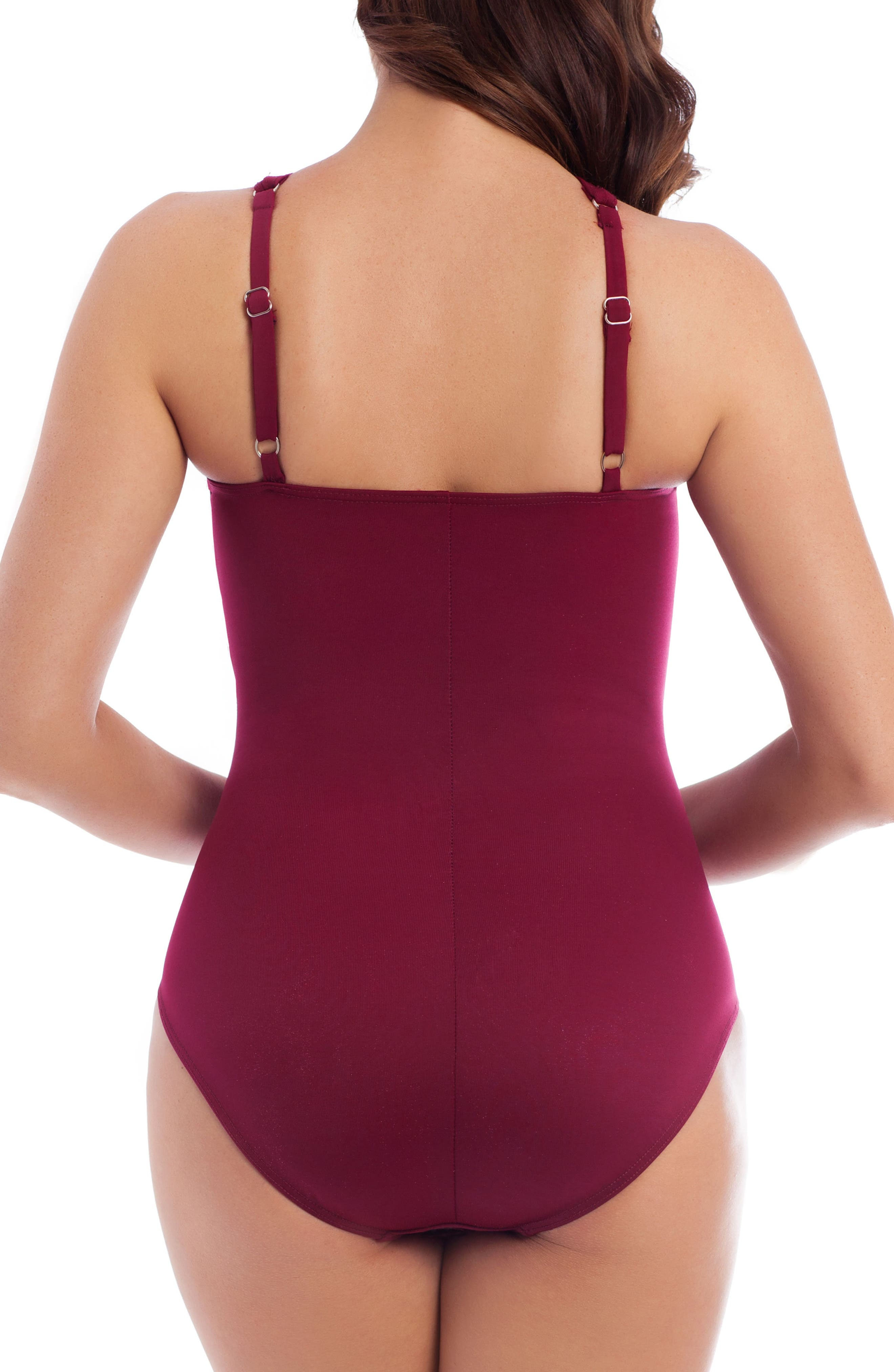 'Point of View' One-Piece Swimsuit,                             Alternate thumbnail 4, color,