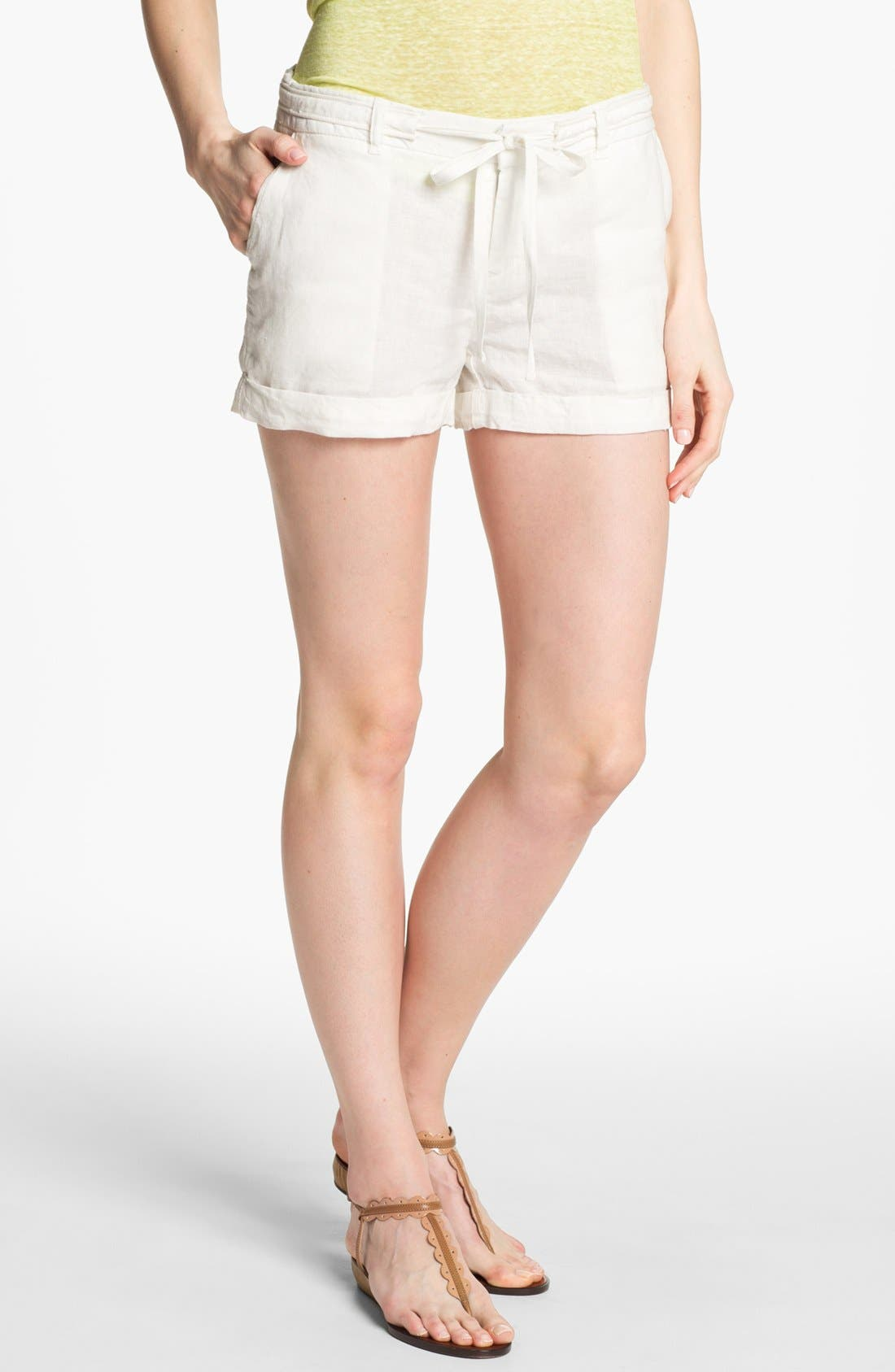 JOIE,                             'Jewell' Linen Shorts,                             Main thumbnail 1, color,                             114