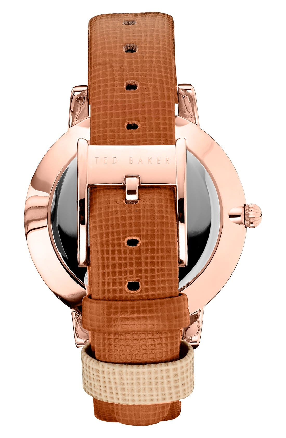 Leather Strap Watch, 40mm,                             Alternate thumbnail 8, color,