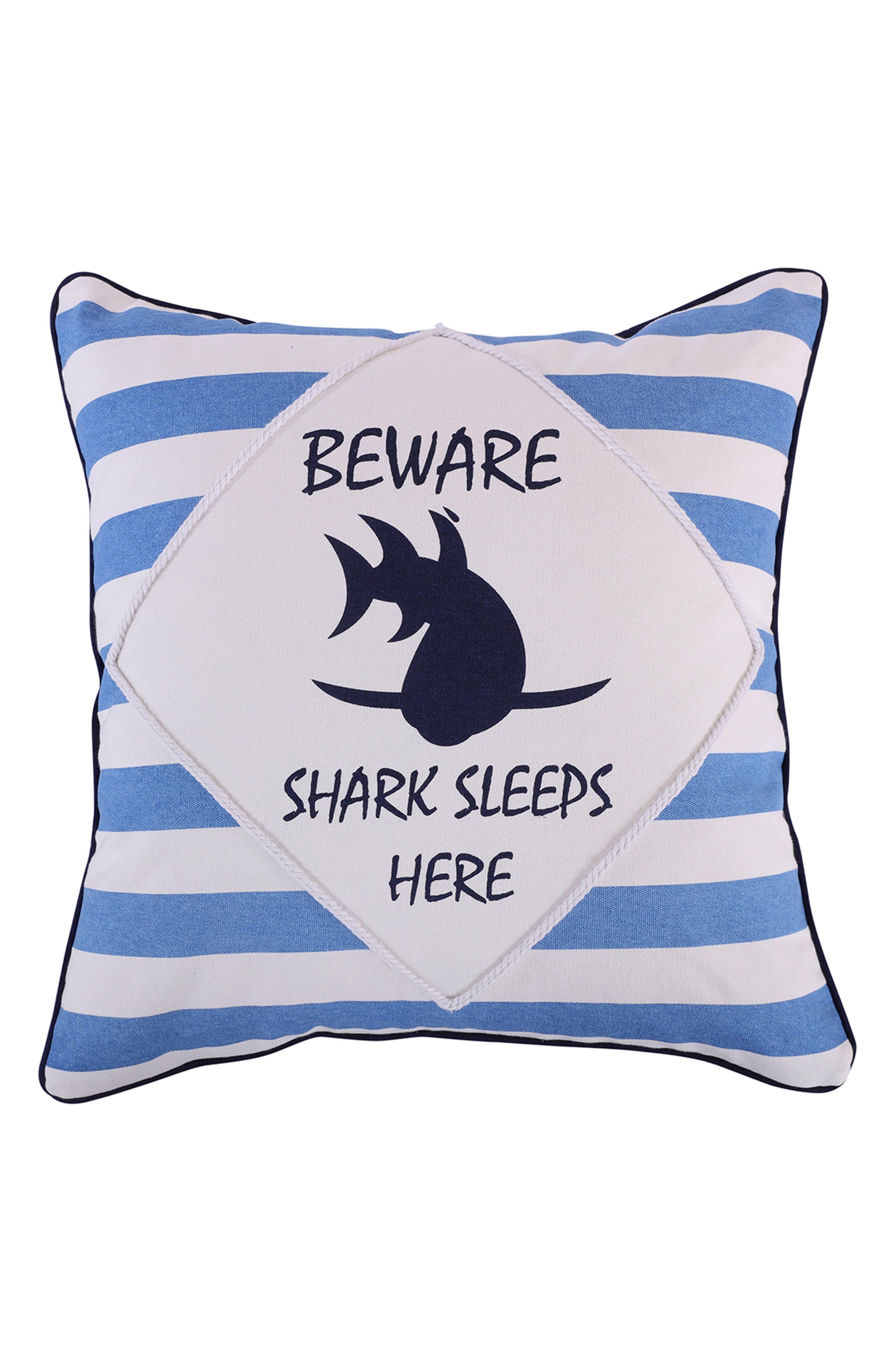 Nolan Shark Pillow,                             Main thumbnail 1, color,                             400