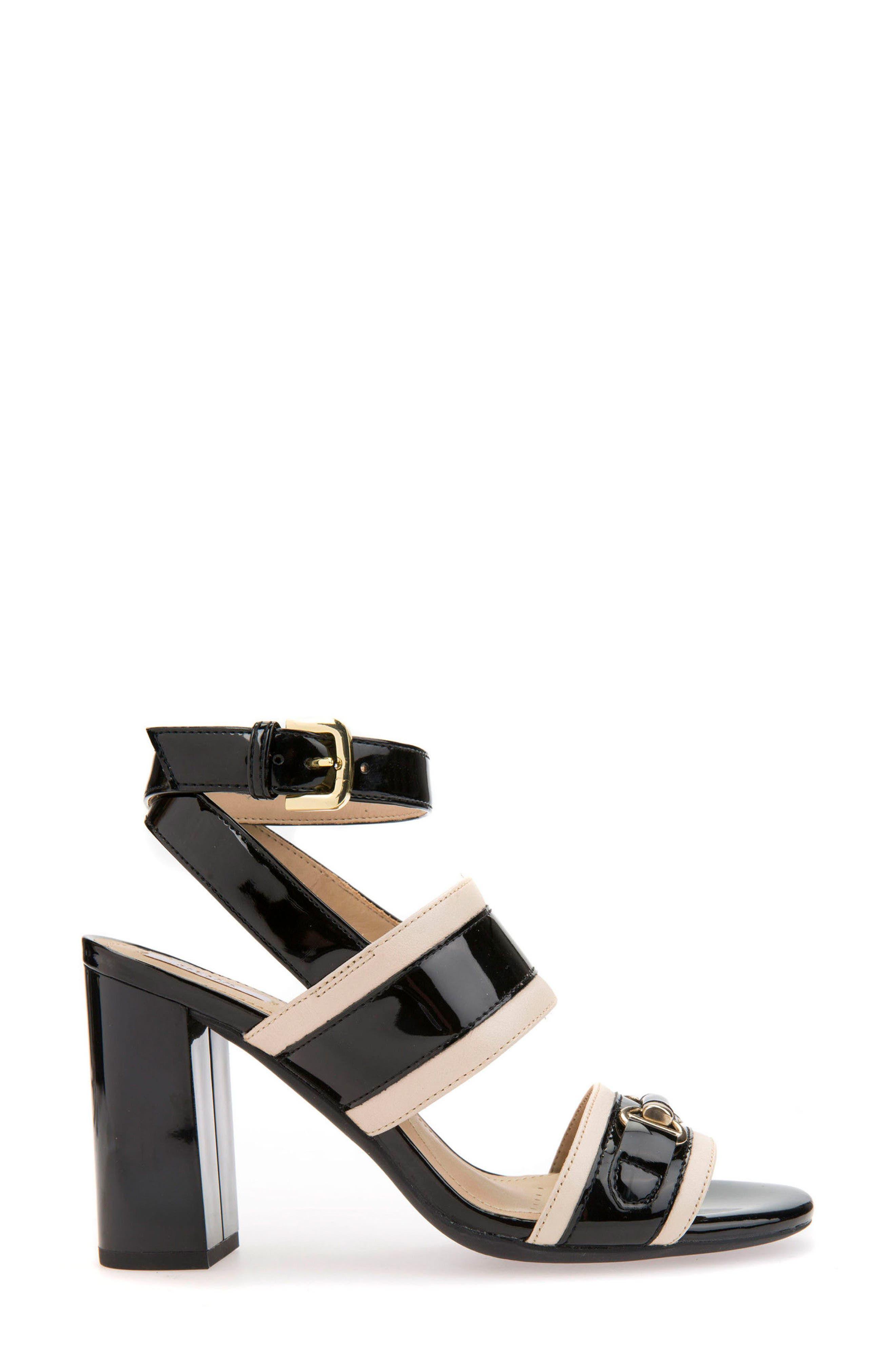 Audalie 6 Sandal,                             Alternate thumbnail 3, color,                             BLACK LEATHER