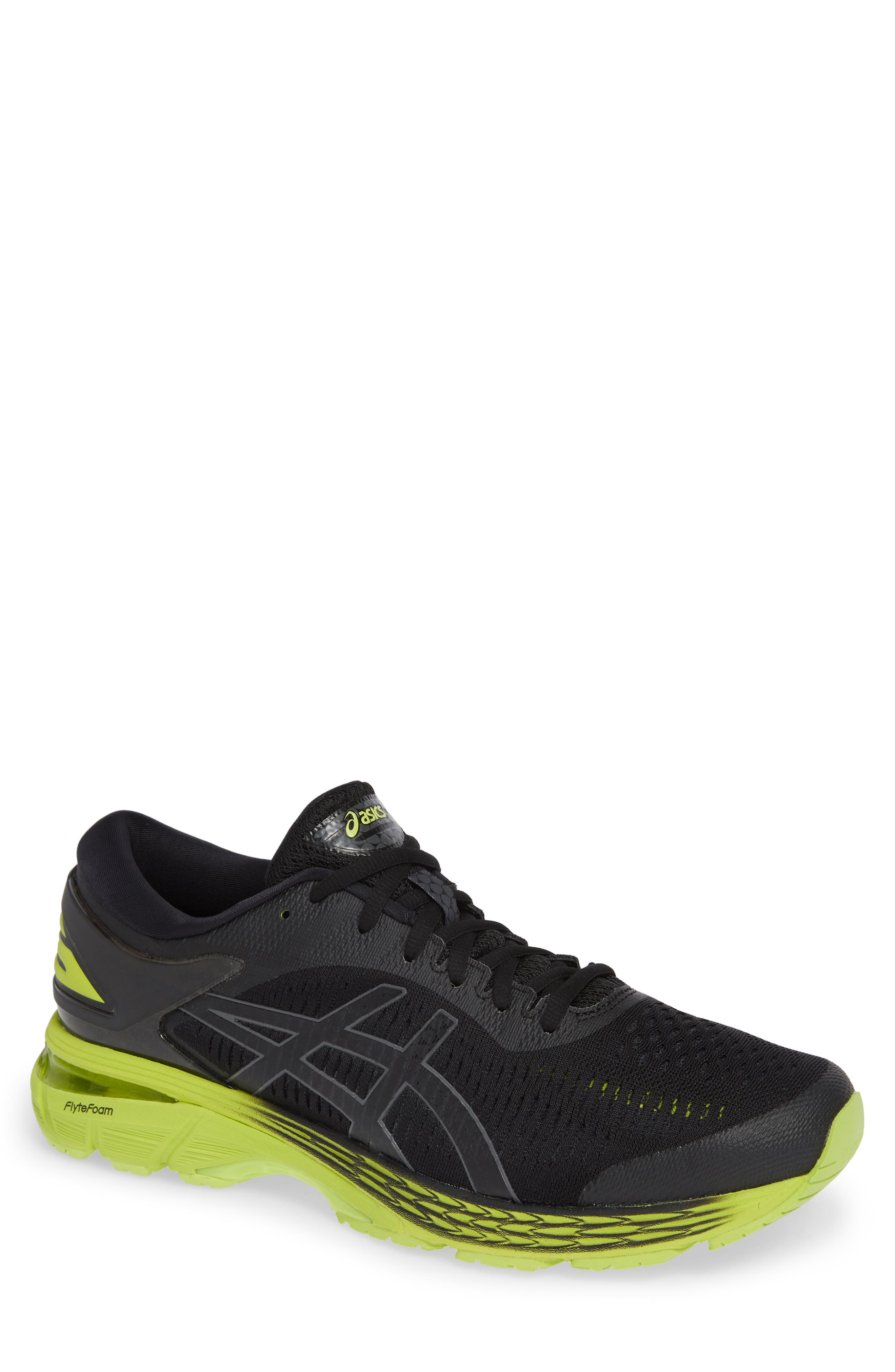 GEL-Kayano<sup>®</sup> 25 Running Shoe,                             Main thumbnail 1, color,                             BLACK/ NEON LIME