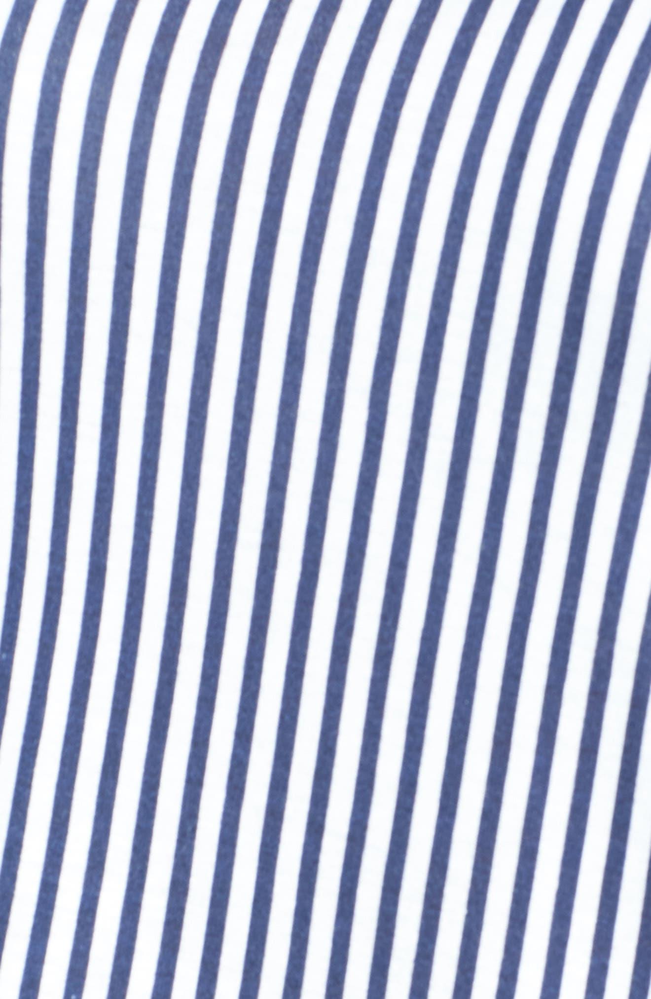 Stripe Layered Hem Top,                             Alternate thumbnail 5, color,                             428
