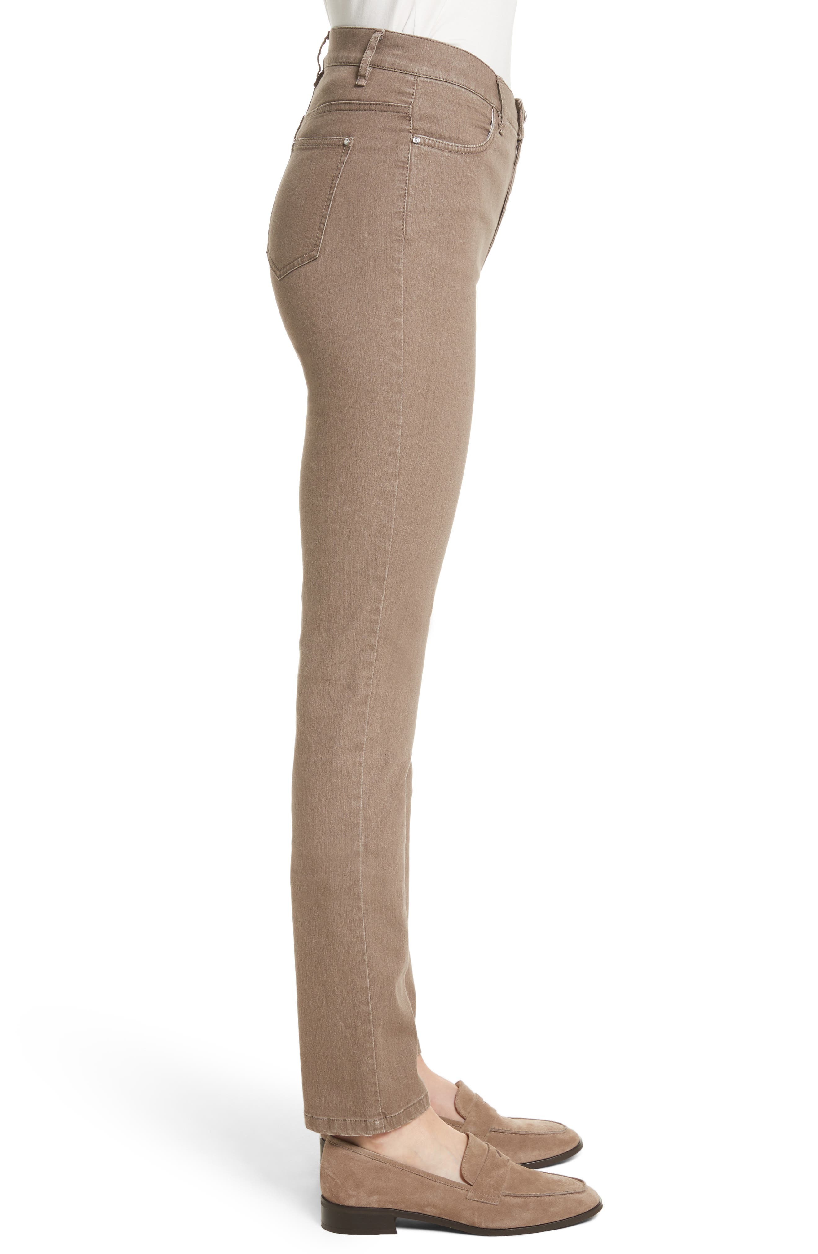 'Primo Denim' Curvy Fit Slim Leg Jeans,                             Alternate thumbnail 4, color,                             TUMBLEWEED