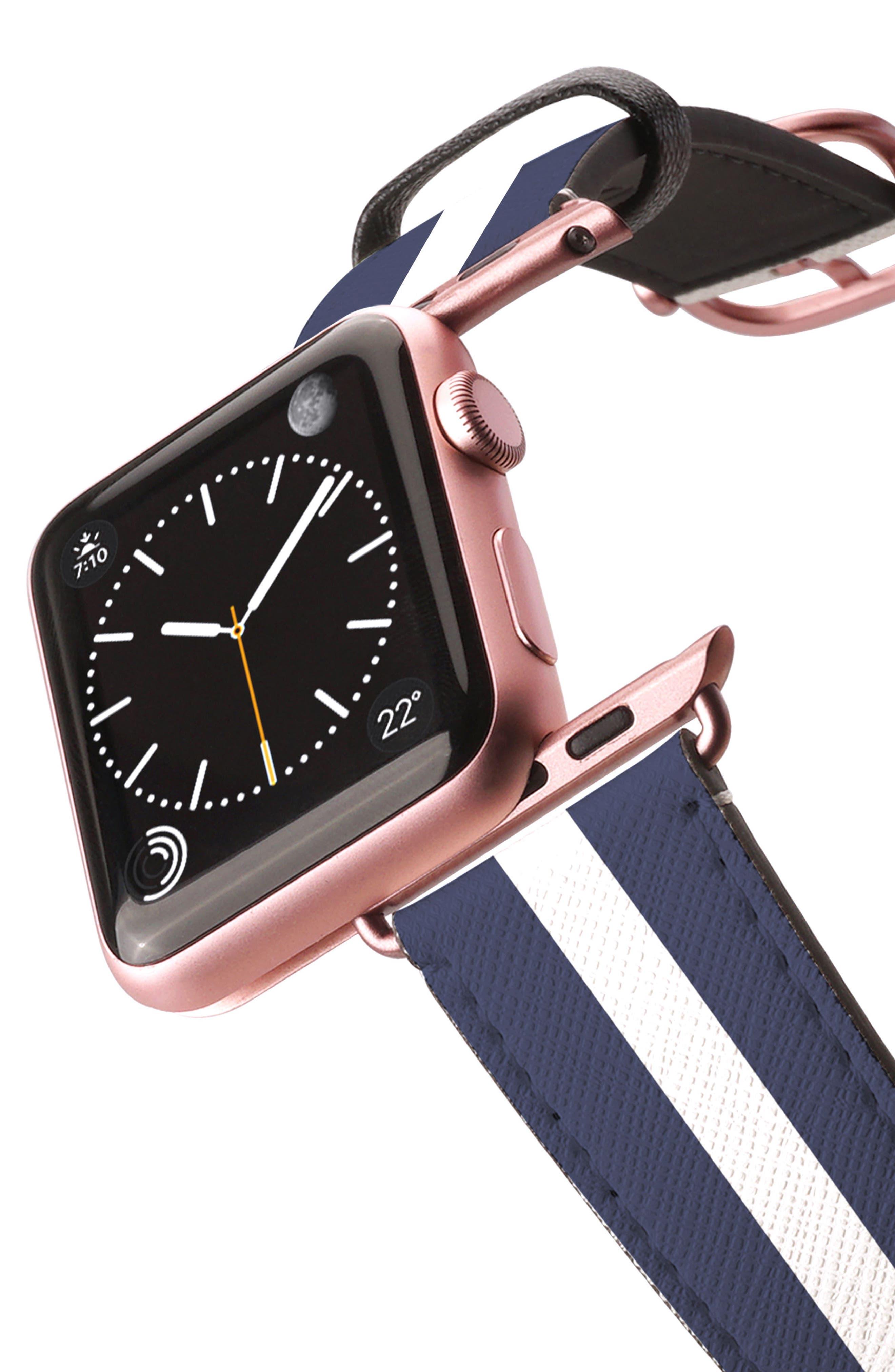 Saffiano Faux Leather Apple Watch Strap,                             Alternate thumbnail 18, color,