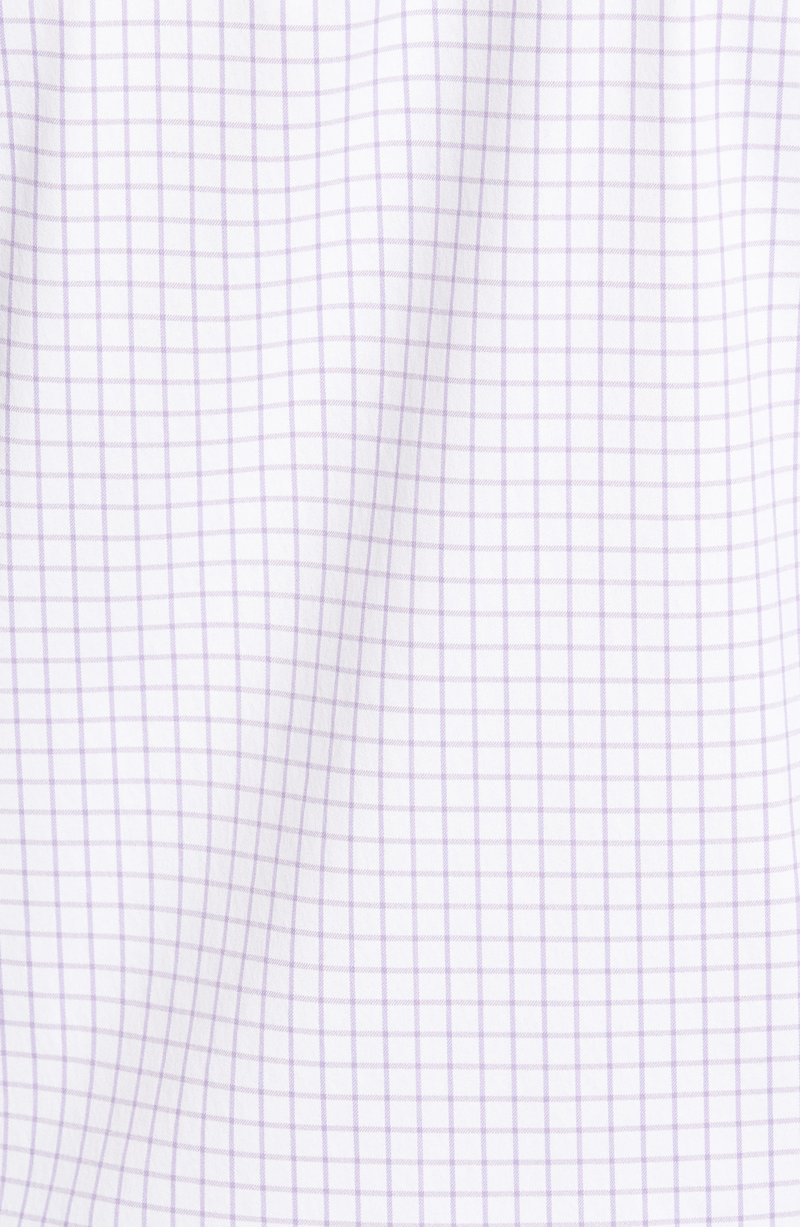 Captain Performance Tattersall Sport Shirt,                             Alternate thumbnail 5, color,                             MUSCADINE