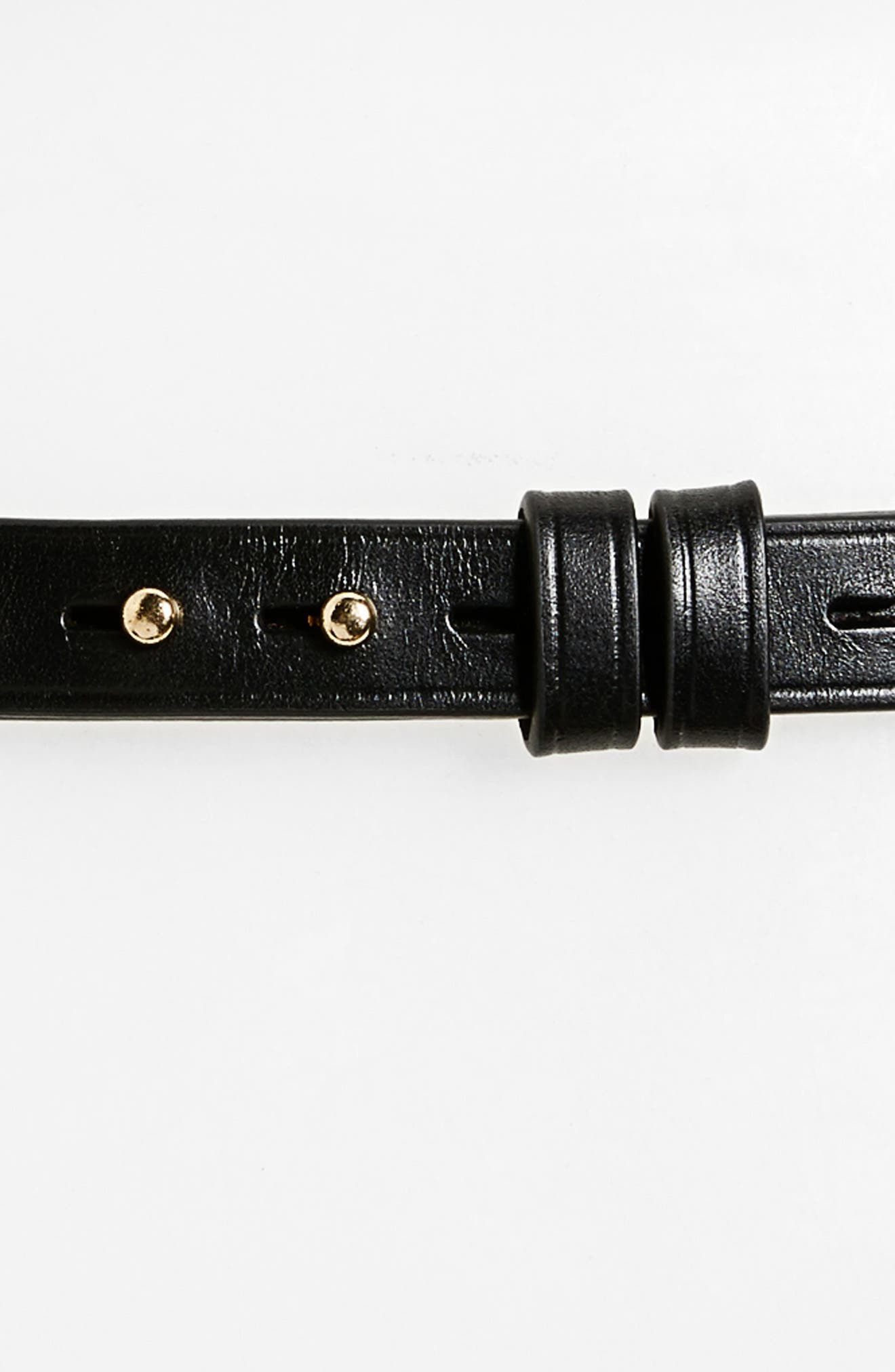Leather Belt,                             Alternate thumbnail 3, color,                             001