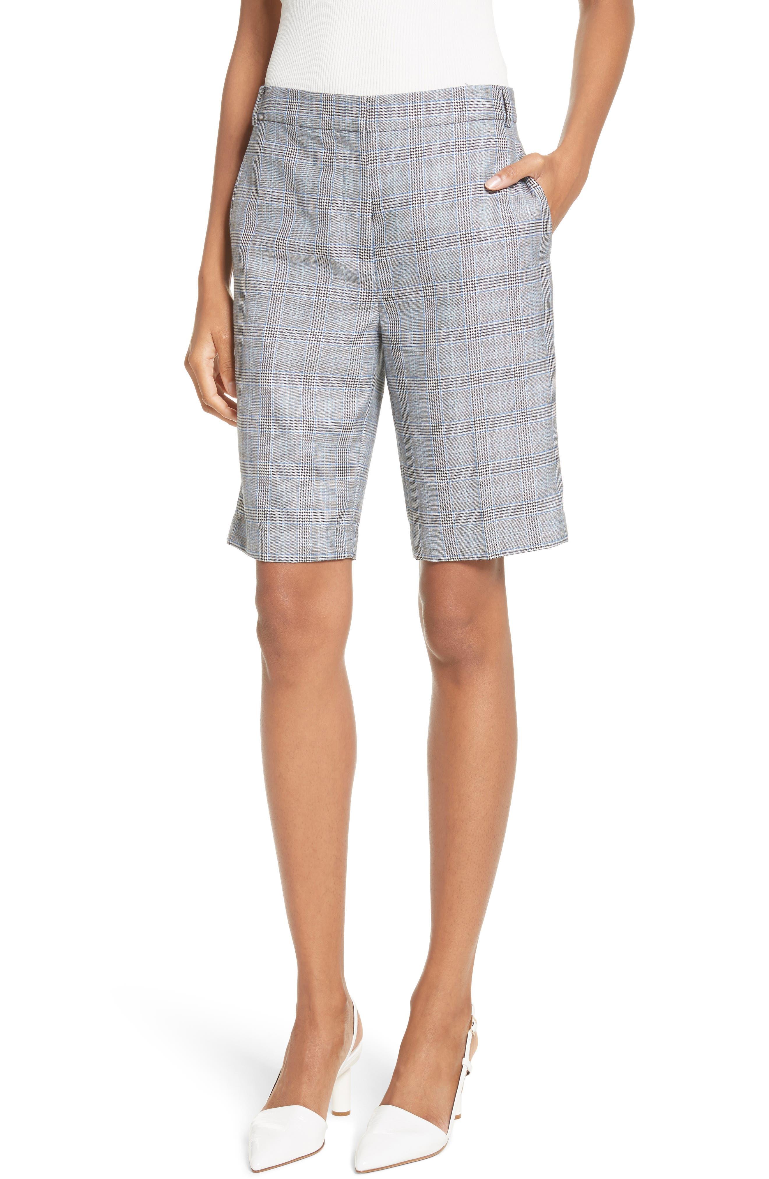 Removable Corset Plaid Shorts,                             Alternate thumbnail 4, color,                             020