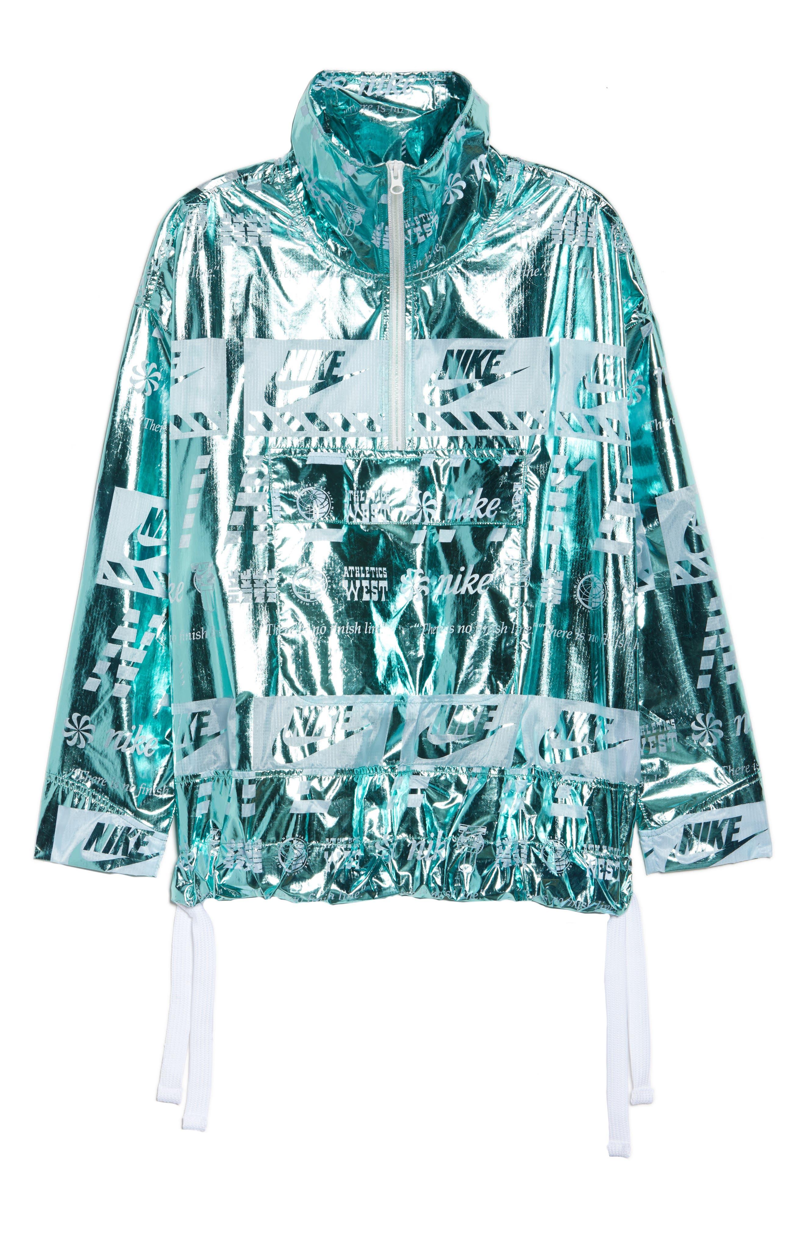Sportswear Metallic Half Zip Jacket,                             Main thumbnail 3, color,