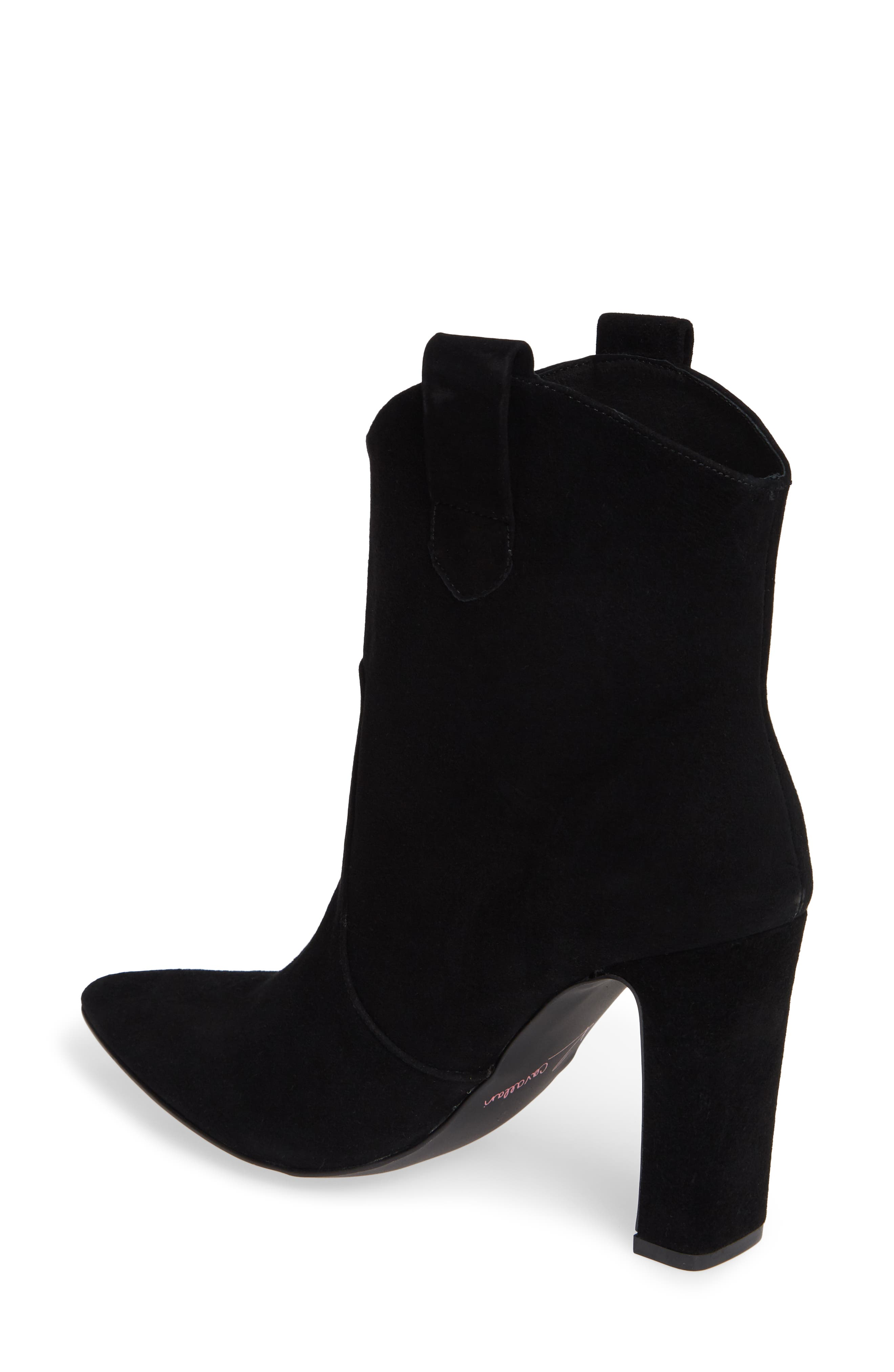 Karly Suede Bootie,                             Alternate thumbnail 2, color,                             BLACK SUEDE