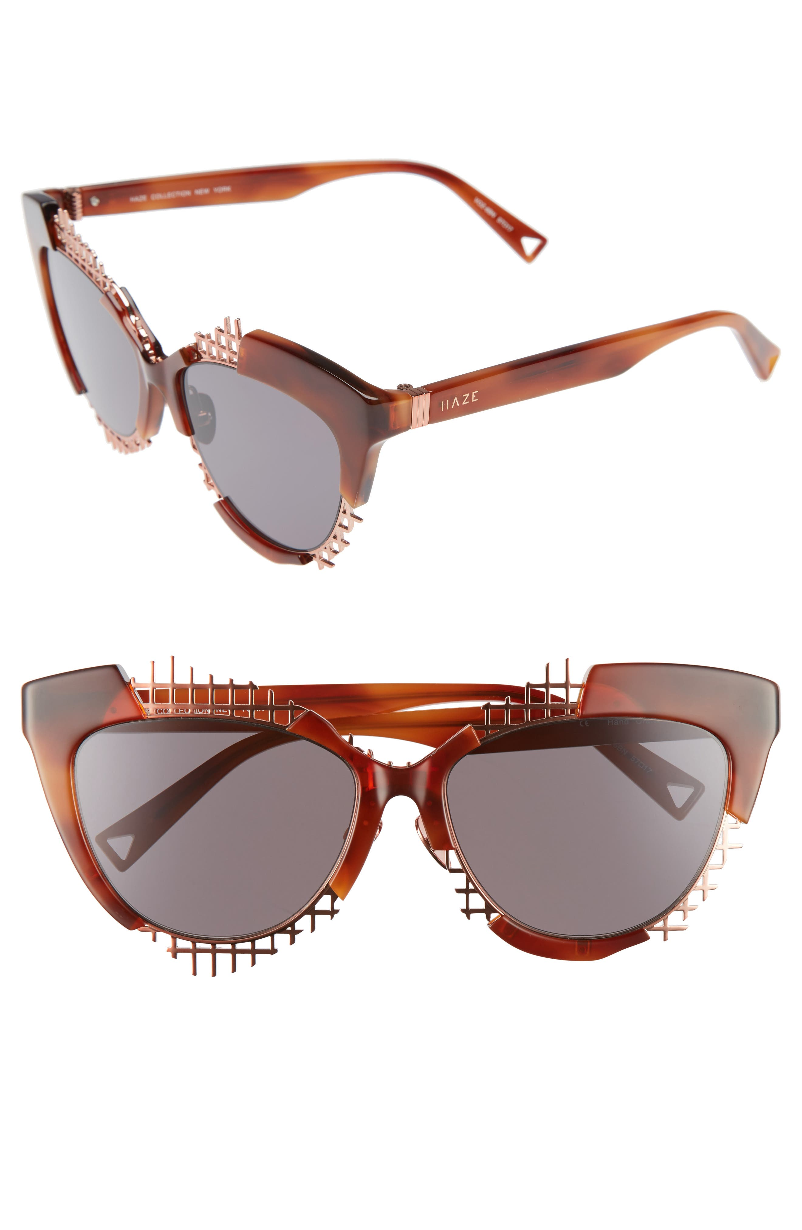 Voz 55mm Cat Eye Sunglasses,                             Main thumbnail 3, color,