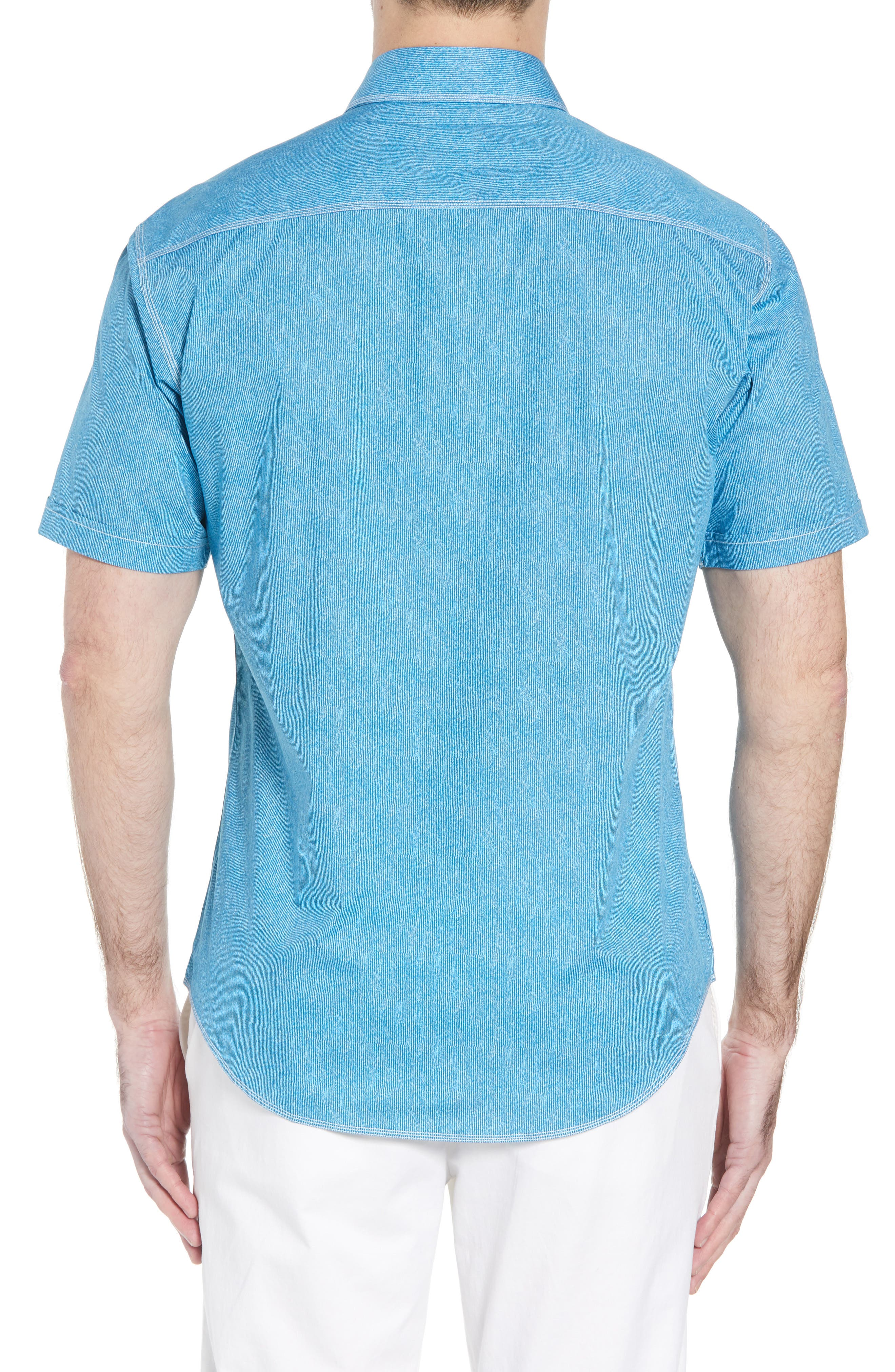 Shaped Fit Sport Shirt,                             Alternate thumbnail 5, color,