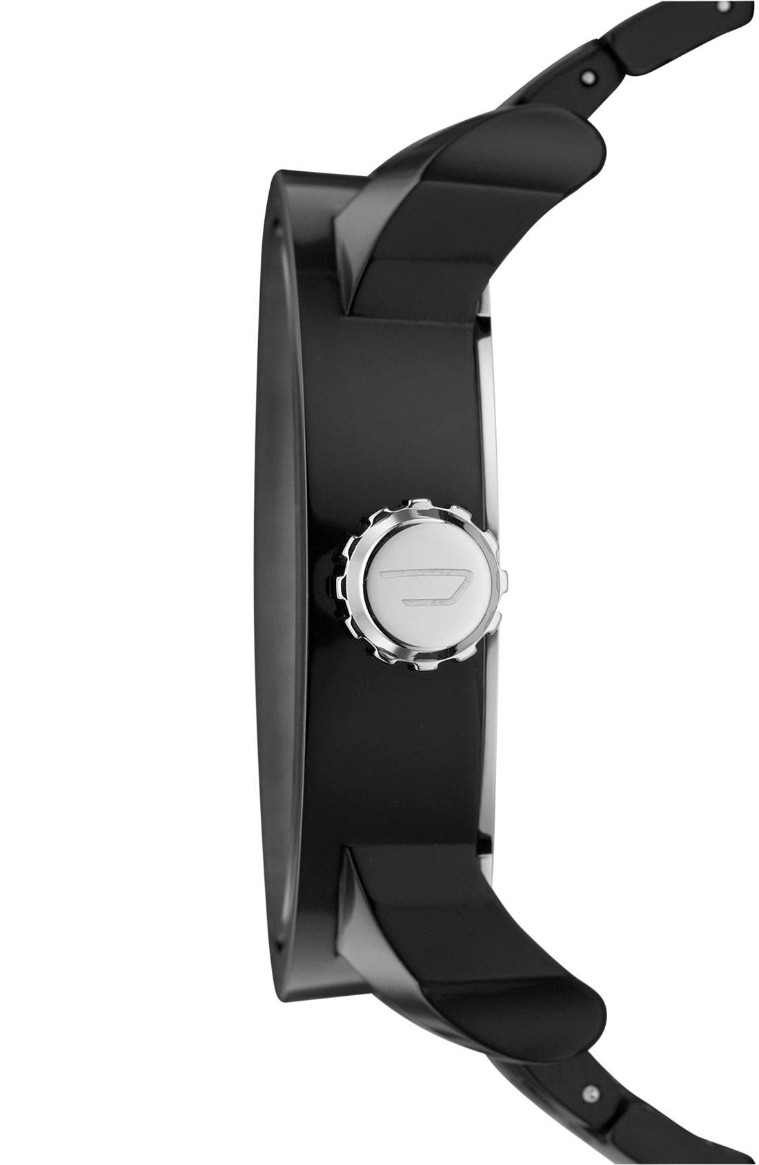 'Franchise' Oversized Round Bracelet Watch, 59mm x 67mm,                             Alternate thumbnail 2, color,                             001
